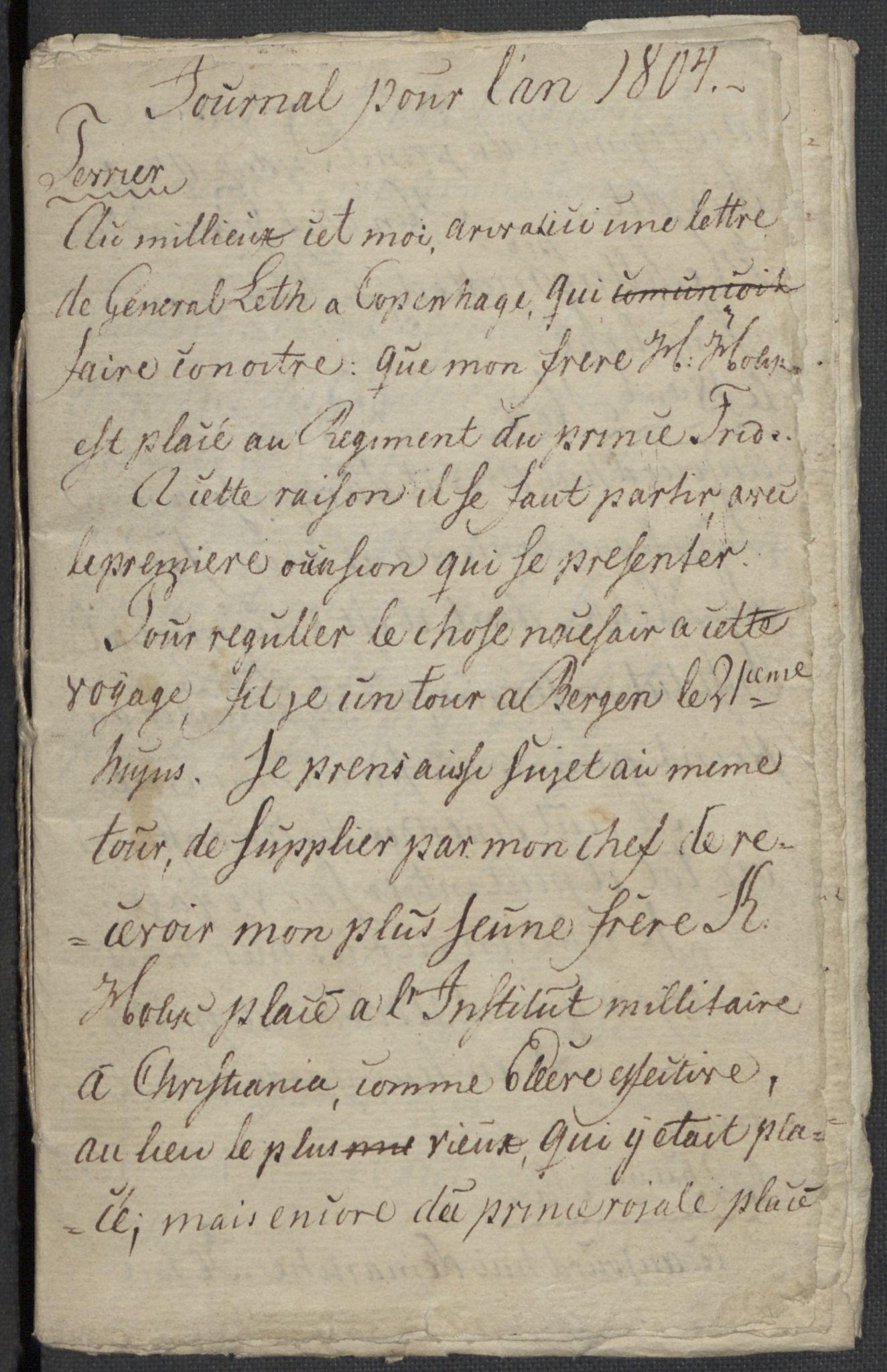 RA, Holck, Meidell, Hartvig, F/L0001: (Kassett) Dagbøker ført av Ole Elias v.Holck, 1798-1842, s. 122