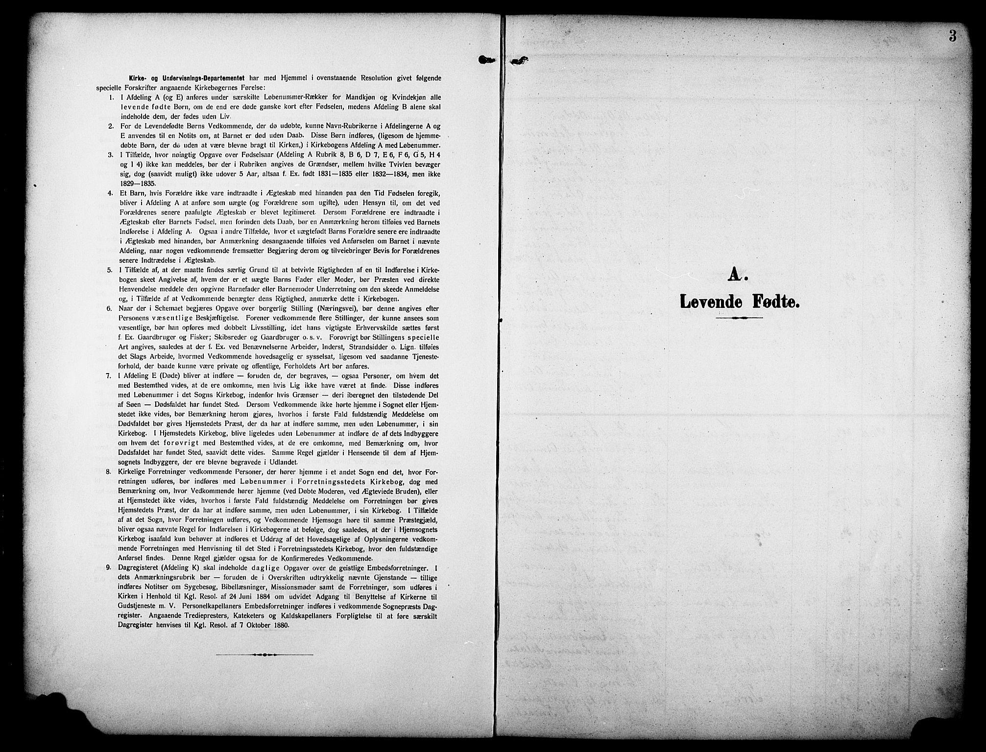 SAKO, Drangedal kirkebøker, G/Ga/L0004: Klokkerbok nr. I 4, 1901-1933, s. 3