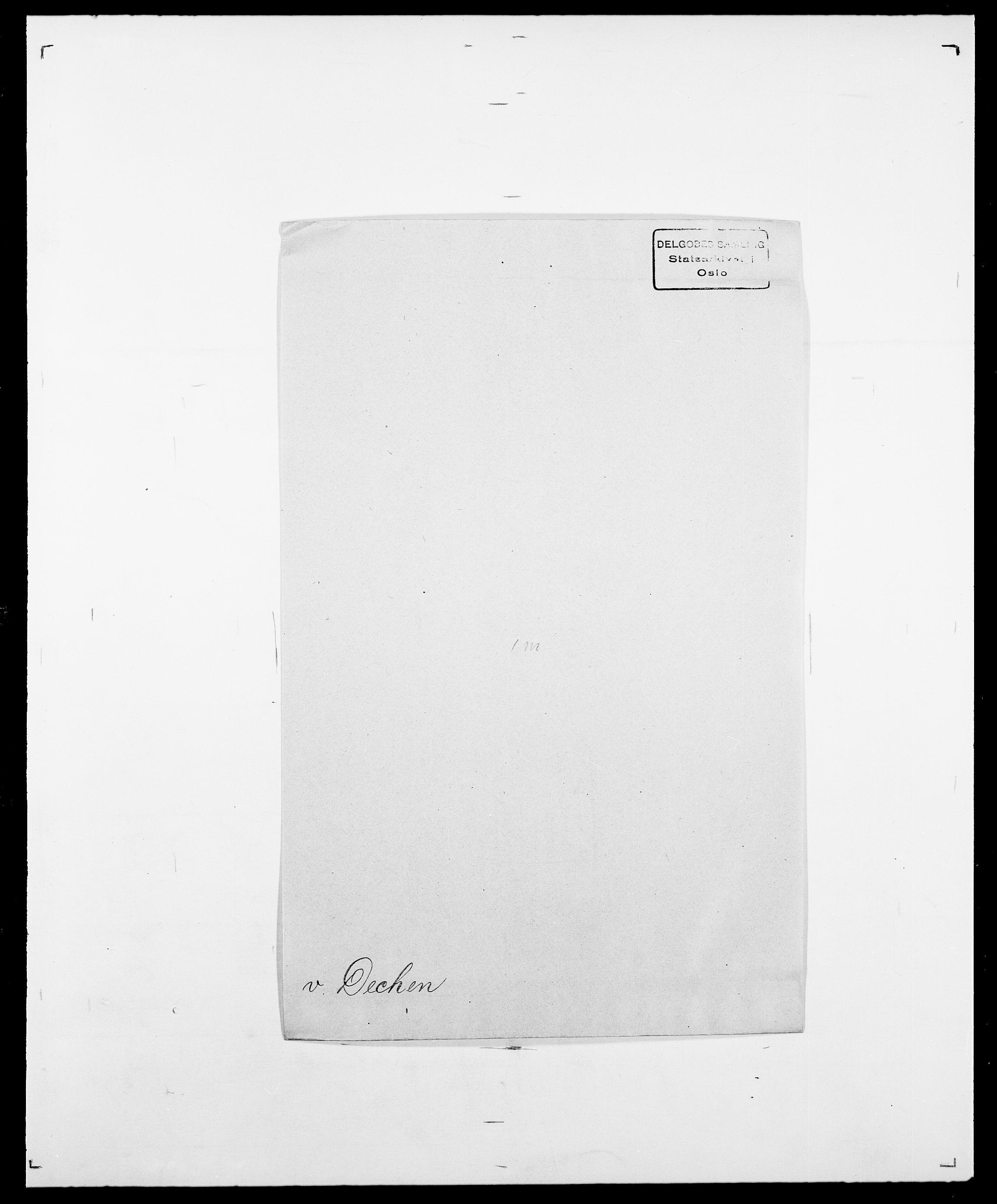SAO, Delgobe, Charles Antoine - samling, D/Da/L0009: Dahl - v. Düren, s. 394