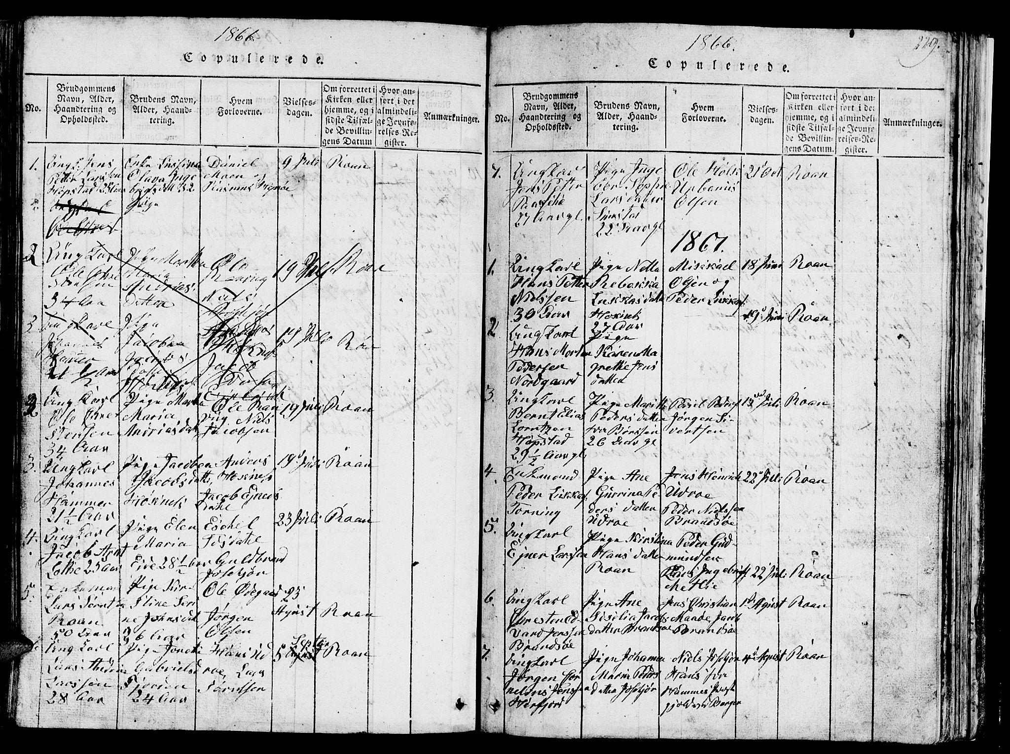 SAT, Ministerialprotokoller, klokkerbøker og fødselsregistre - Sør-Trøndelag, 657/L0714: Klokkerbok nr. 657C01, 1818-1868, s. 229