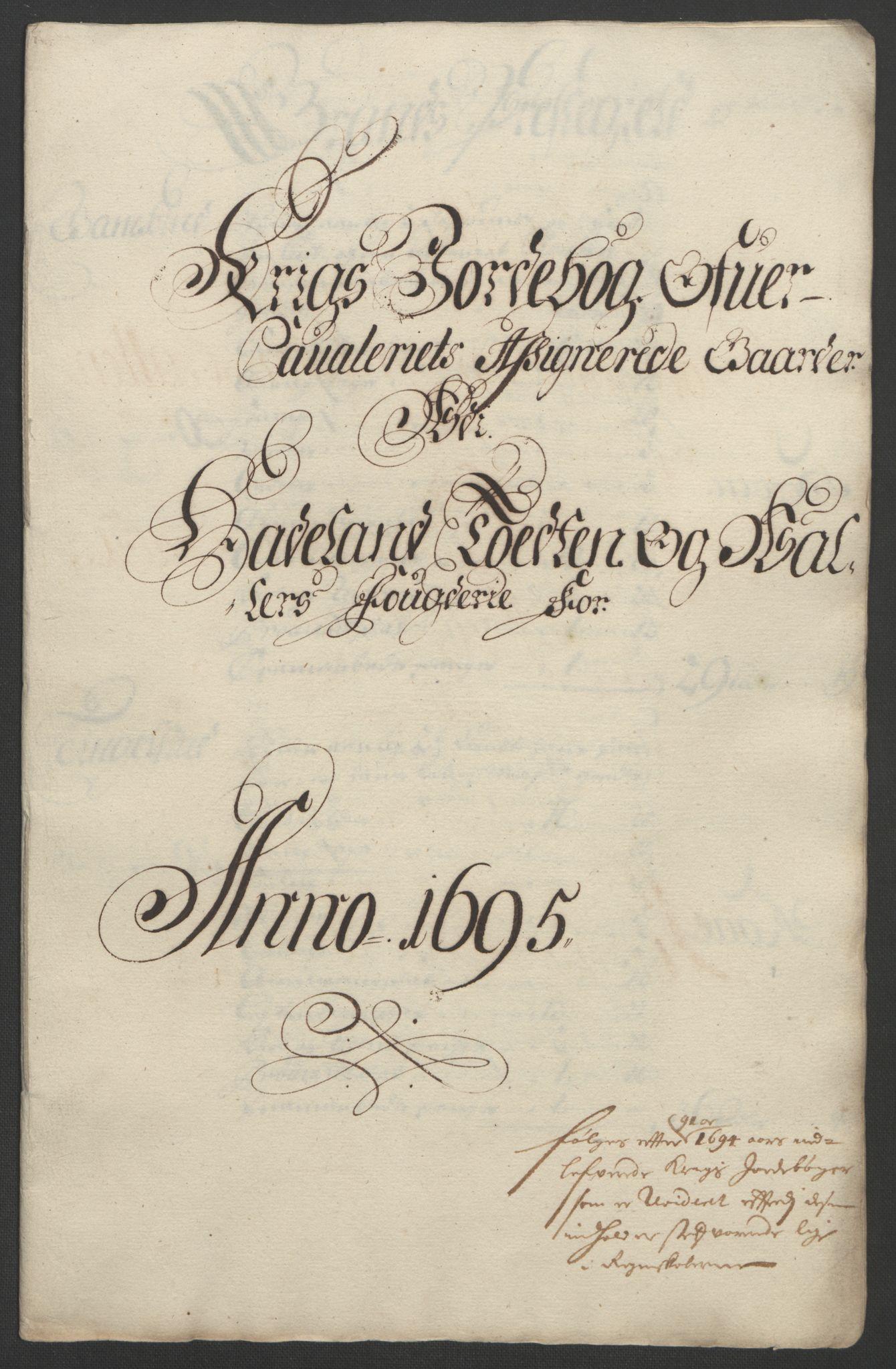 RA, Rentekammeret inntil 1814, Reviderte regnskaper, Fogderegnskap, R18/L1293: Fogderegnskap Hadeland, Toten og Valdres, 1695, s. 139