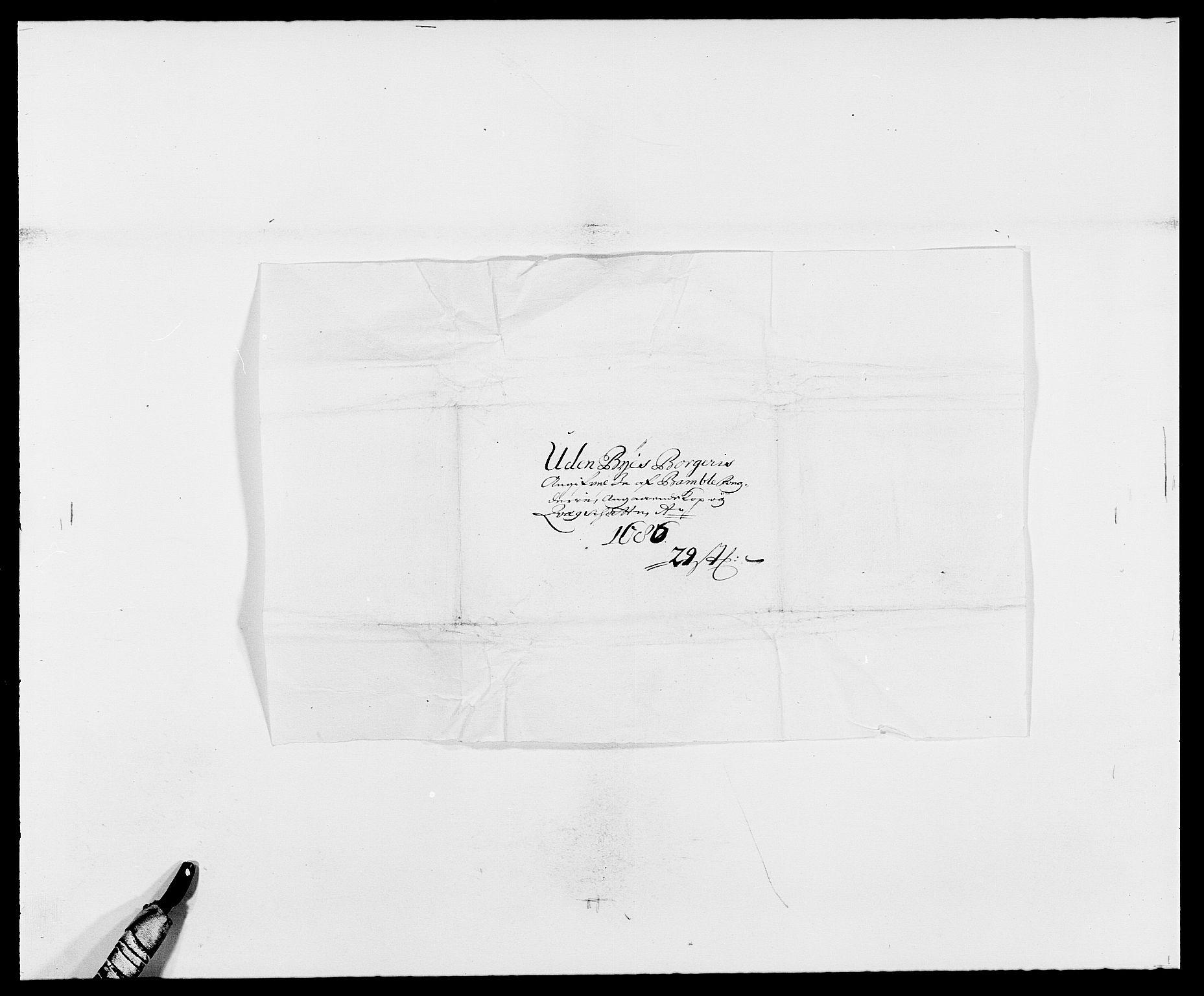 RA, Rentekammeret inntil 1814, Reviderte regnskaper, Fogderegnskap, R34/L2049: Fogderegnskap Bamble, 1685-1687, s. 175