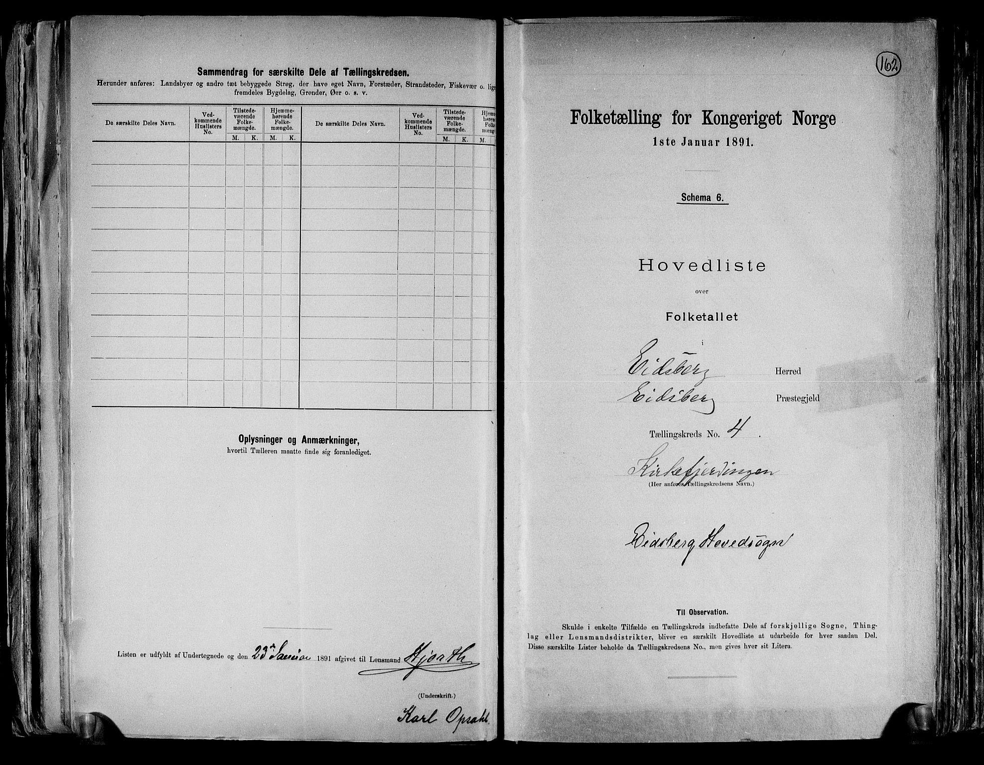RA, Folketelling 1891 for 0125 Eidsberg herred, 1891, s. 14