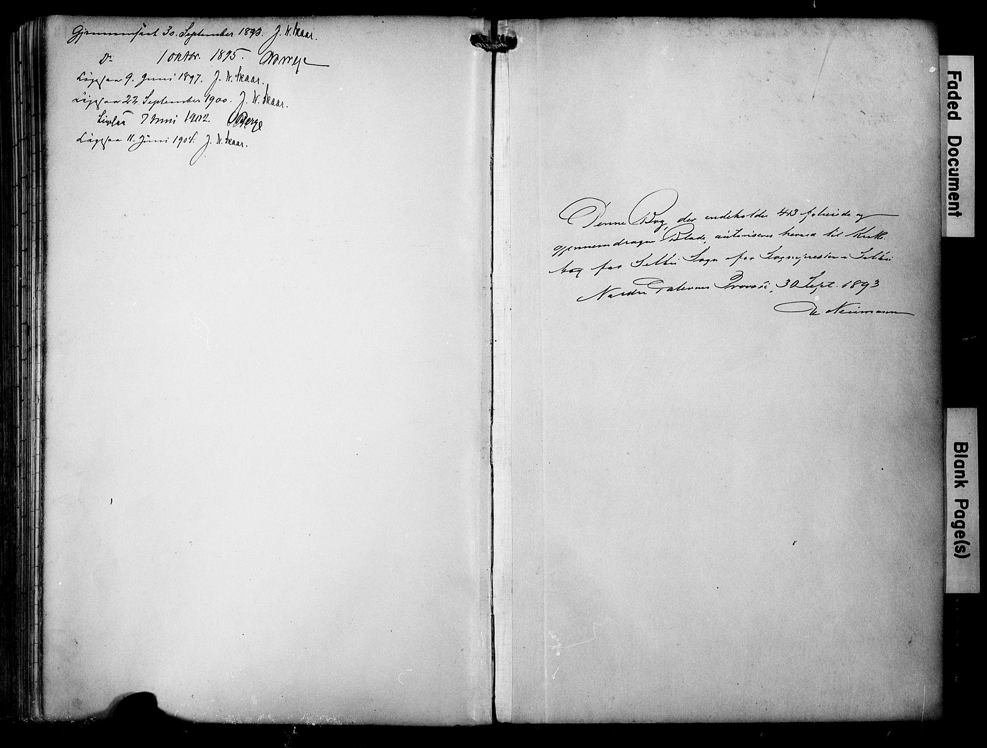 SAT, Ministerialprotokoller, klokkerbøker og fødselsregistre - Sør-Trøndelag, 695/L1149: Ministerialbok nr. 695A09, 1891-1902