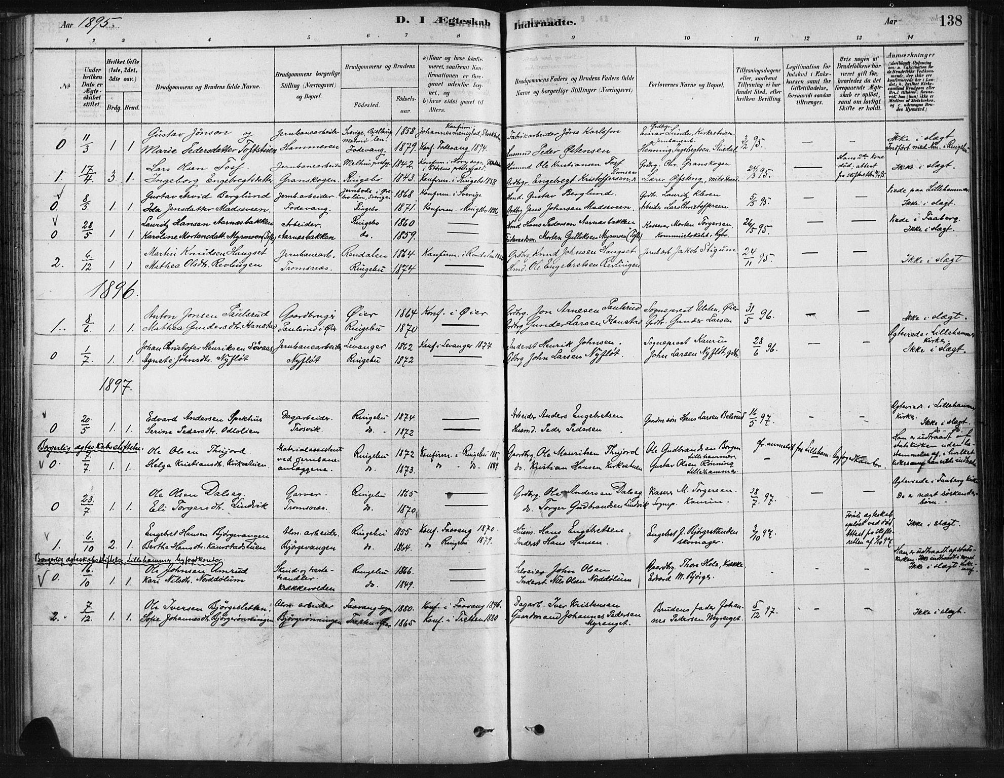 SAH, Ringebu prestekontor, Ministerialbok nr. 9, 1878-1898, s. 138