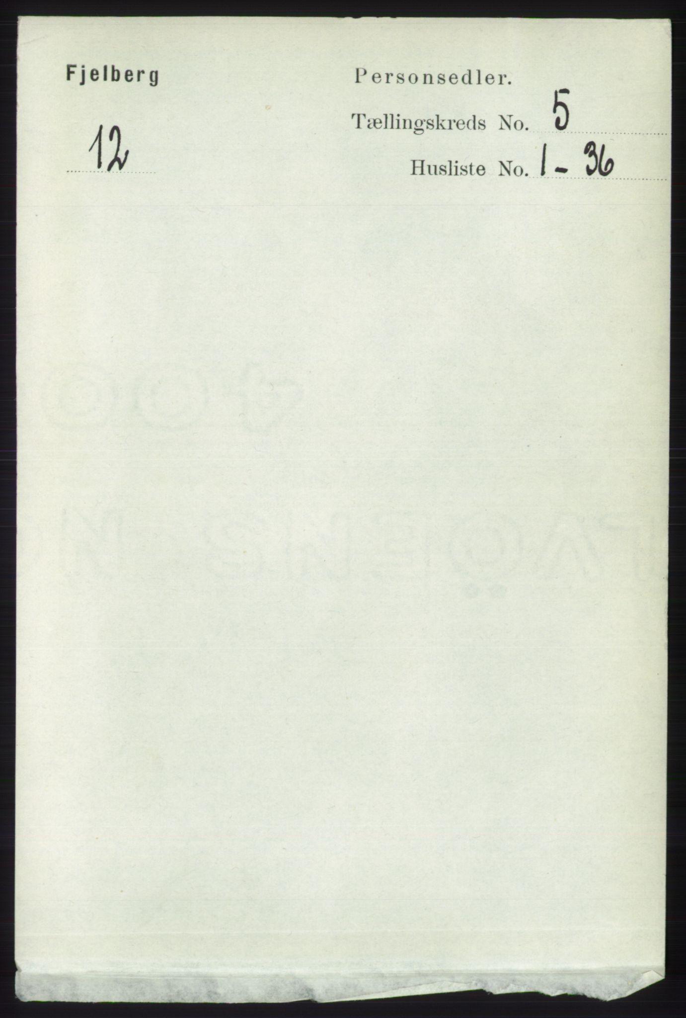 RA, Folketelling 1891 for 1213 Fjelberg herred, 1891, s. 1482