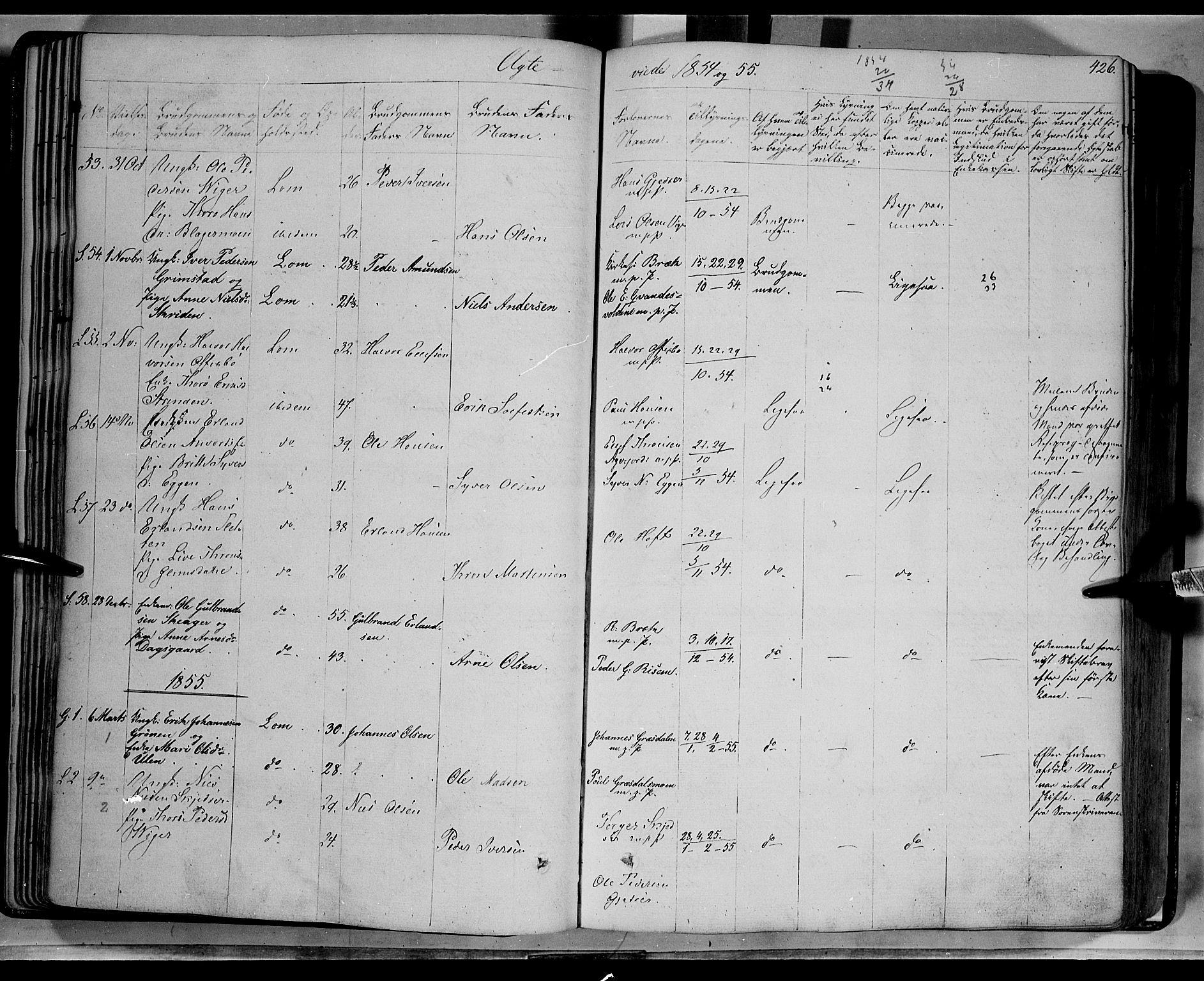SAH, Lom prestekontor, K/L0006: Ministerialbok nr. 6B, 1837-1863, s. 426