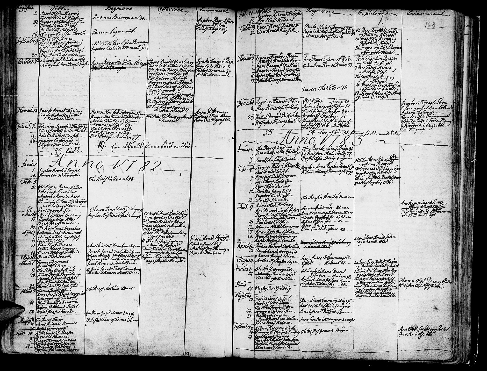 SAT, Ministerialprotokoller, klokkerbøker og fødselsregistre - Nord-Trøndelag, 741/L0385: Ministerialbok nr. 741A01, 1722-1815, s. 168