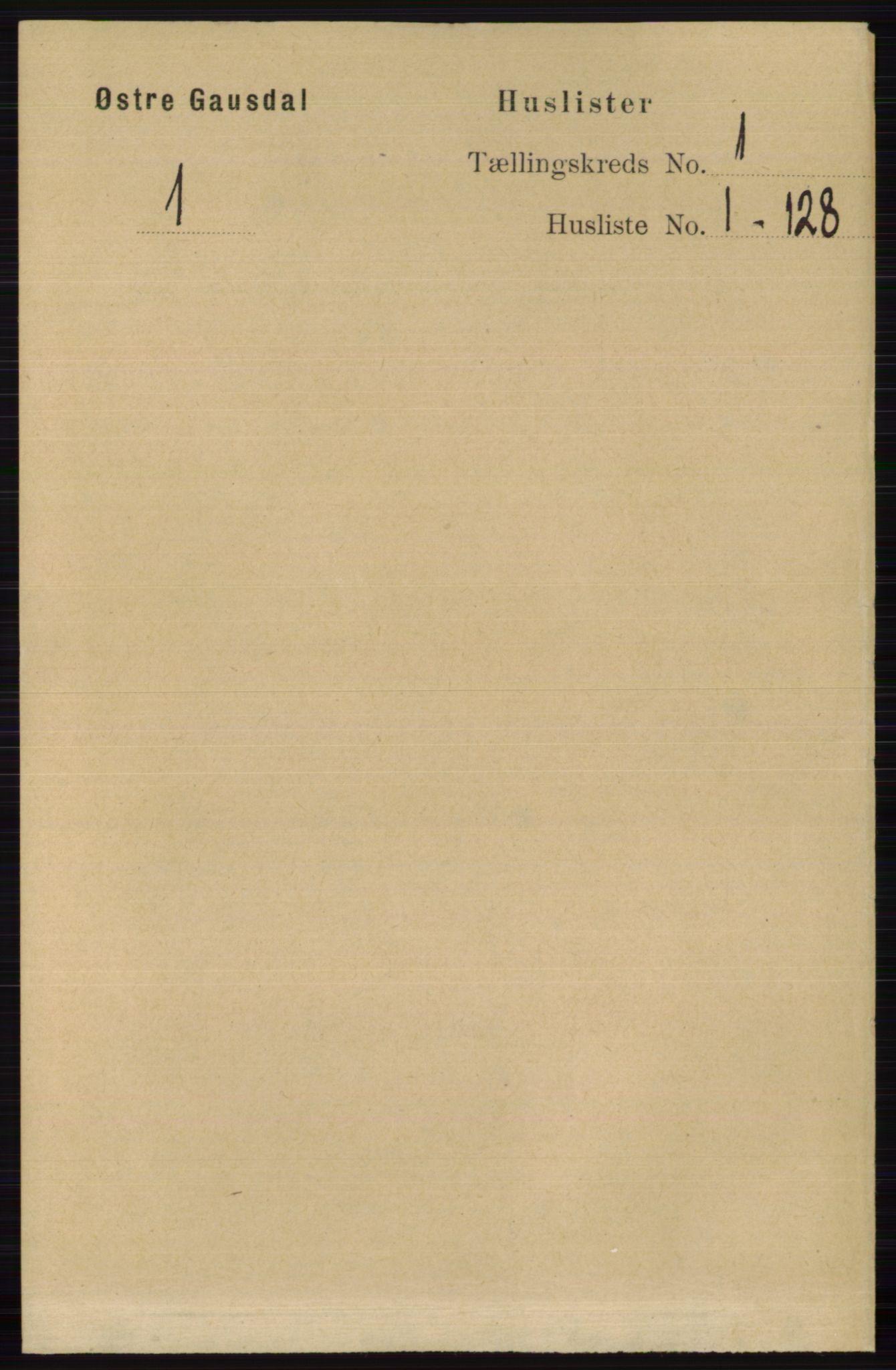 RA, Folketelling 1891 for 0522 Østre Gausdal herred, 1891, s. 21
