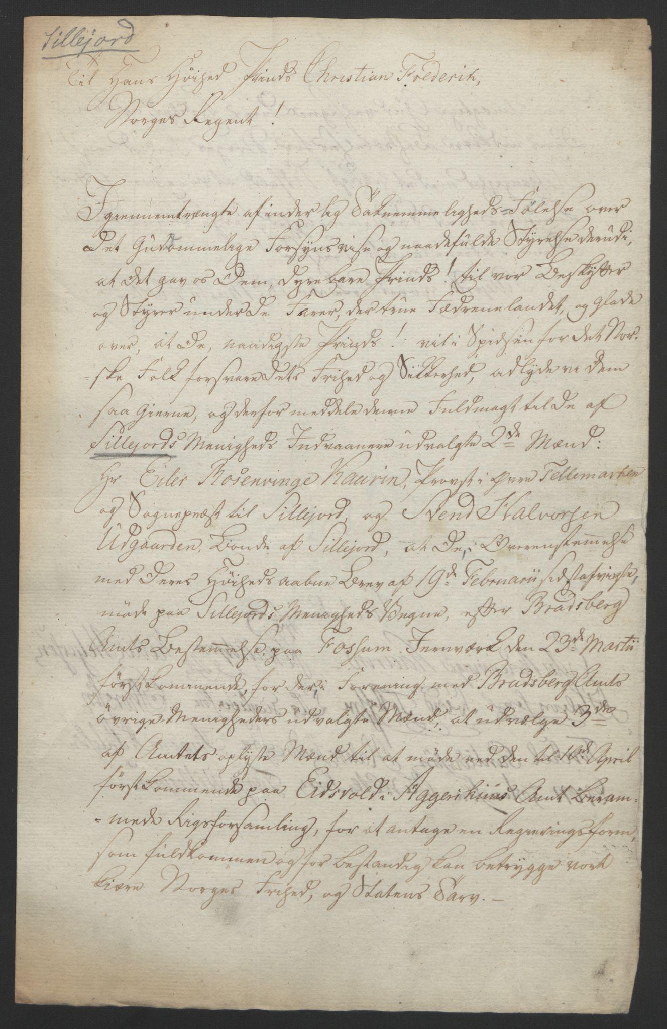 RA, Statsrådssekretariatet, D/Db/L0008: Fullmakter for Eidsvollsrepresentantene i 1814. , 1814, s. 67