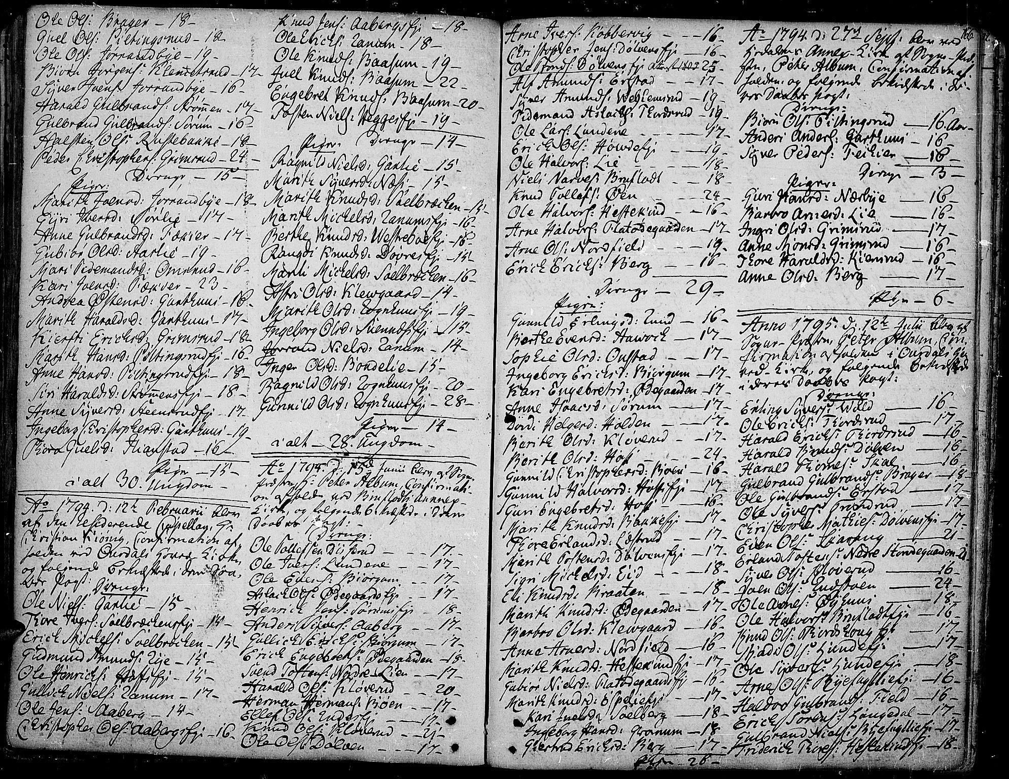 SAH, Aurdal prestekontor, Ministerialbok nr. 6, 1781-1804, s. 166
