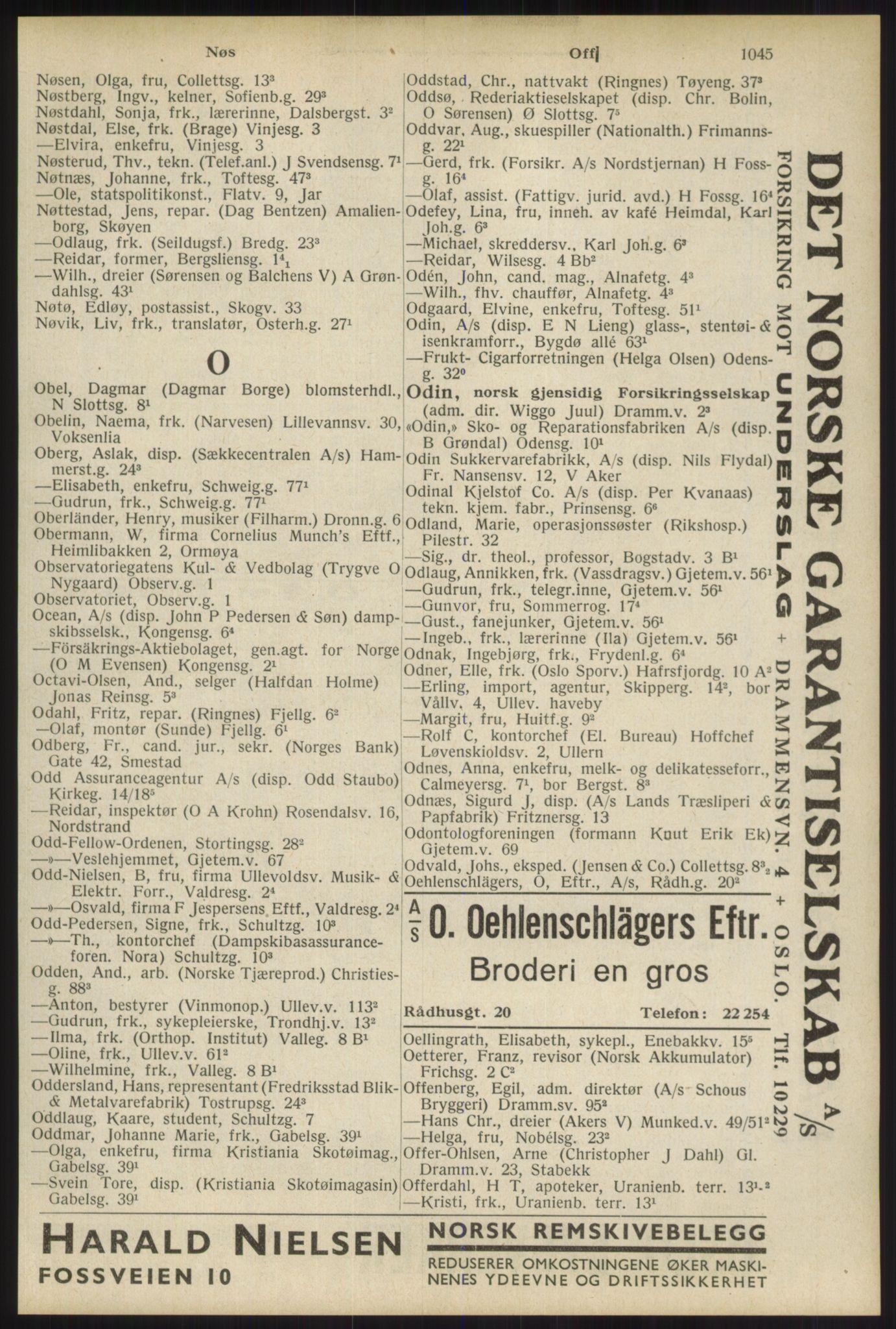 RA, Oslo adressebok (publikasjon)*, 1934, s. 1045