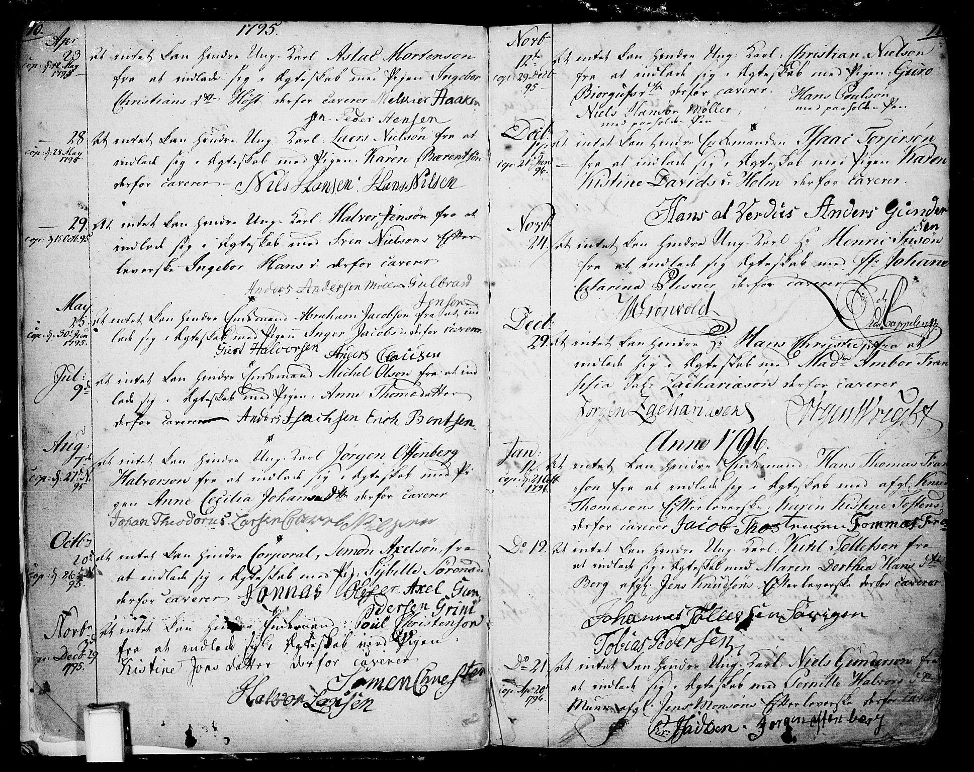 SAKO, Skien kirkebøker, F/Fa/L0004: Ministerialbok nr. 4, 1792-1814, s. 10-11