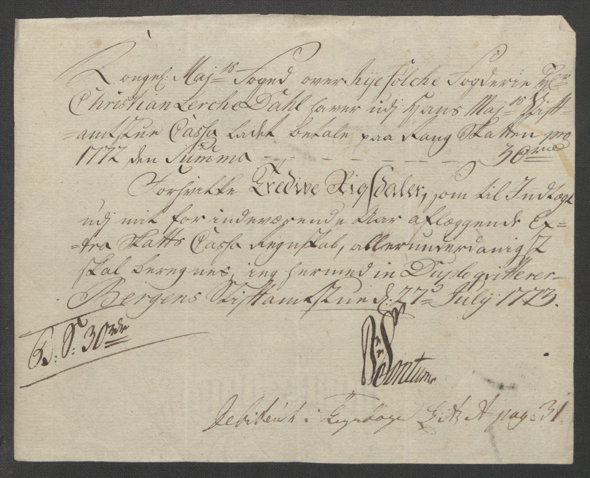 RA, Rentekammeret inntil 1814, Reviderte regnskaper, Fogderegnskap, R47/L2972: Ekstraskatten Ryfylke, 1762-1780, s. 306