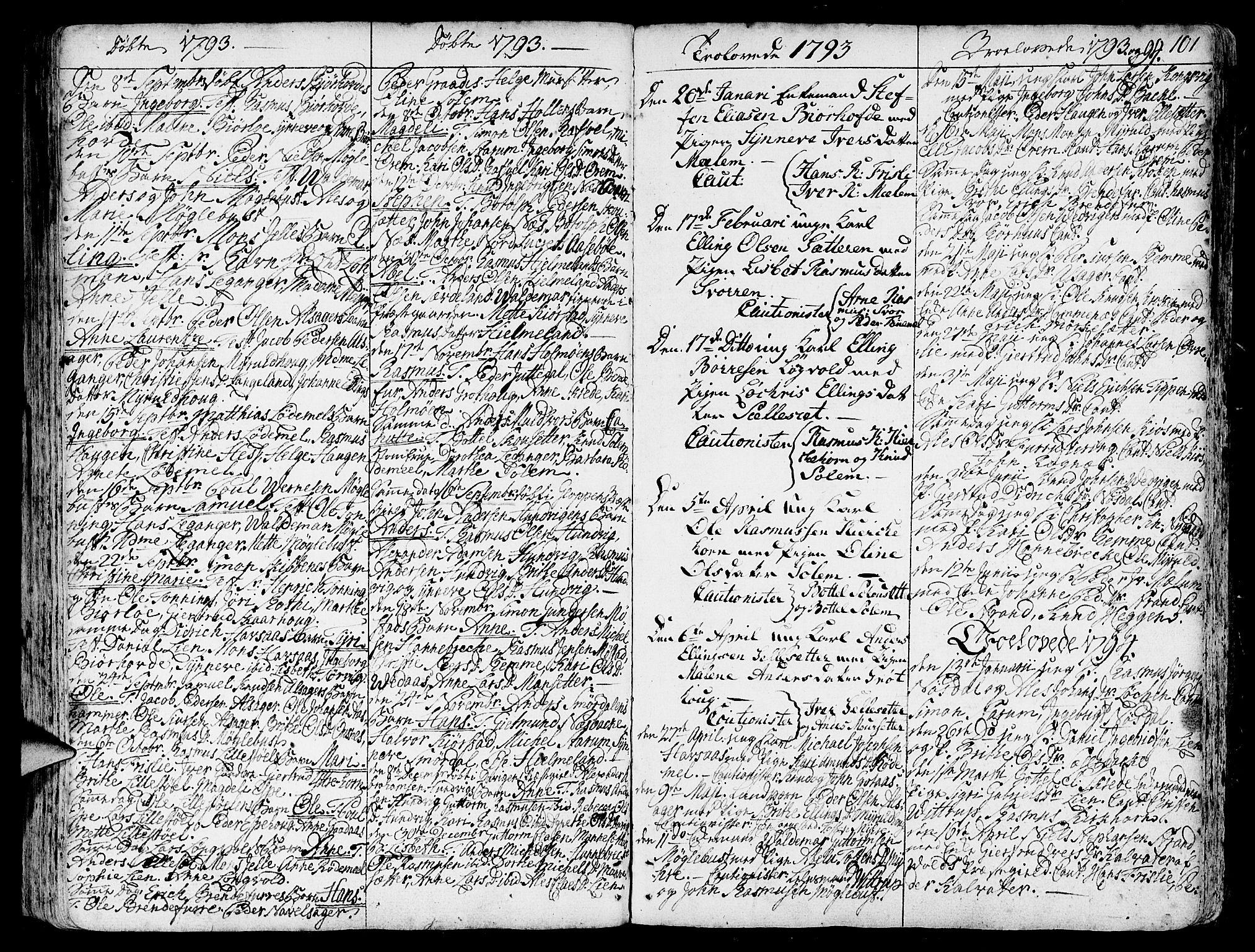 SAB, Eid Sokneprestembete, H/Haa: Ministerialbok nr. A 3, 1770-1805, s. 101