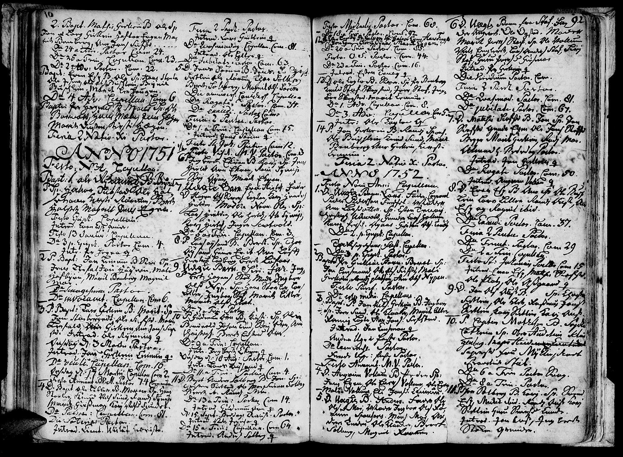 SAT, Ministerialprotokoller, klokkerbøker og fødselsregistre - Sør-Trøndelag, 691/L1059: Ministerialbok nr. 691A01 /3, 1740-1767, s. 92