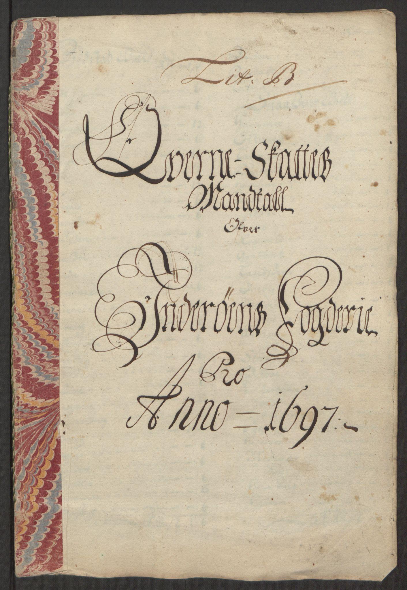 RA, Rentekammeret inntil 1814, Reviderte regnskaper, Fogderegnskap, R63/L4309: Fogderegnskap Inderøy, 1695-1697, s. 392