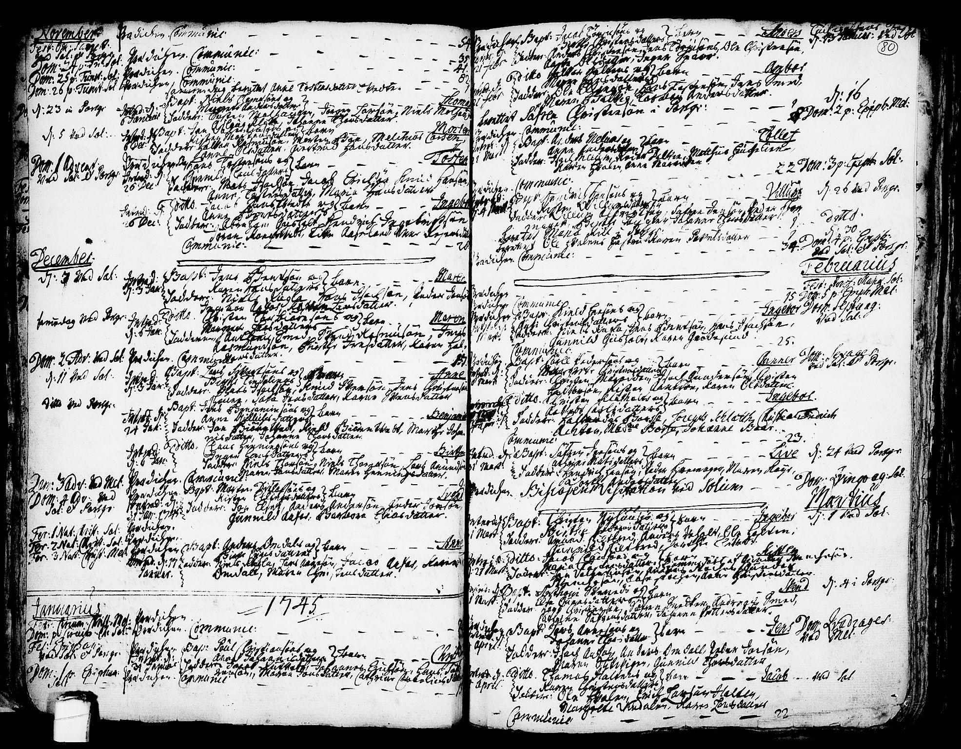 SAKO, Solum kirkebøker, F/Fa/L0002: Ministerialbok nr. I 2, 1713-1761, s. 80