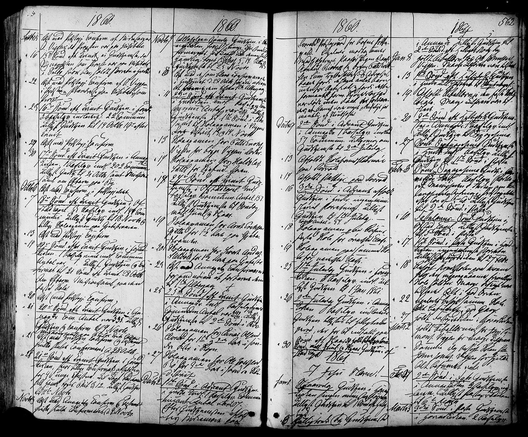 SAT, Ministerialprotokoller, klokkerbøker og fødselsregistre - Sør-Trøndelag, 665/L0772: Ministerialbok nr. 665A07, 1856-1878, s. 562