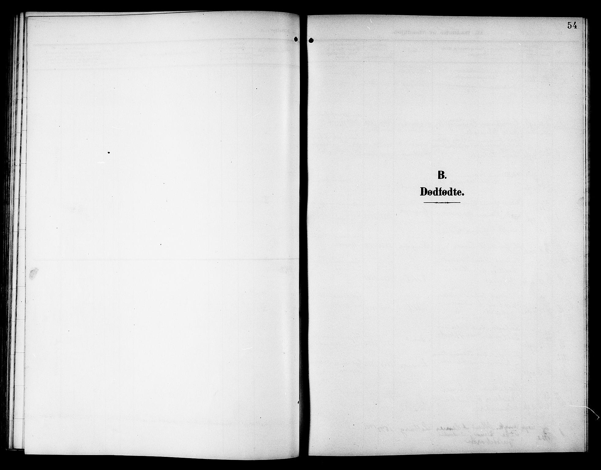 SAT, Ministerialprotokoller, klokkerbøker og fødselsregistre - Nord-Trøndelag, 757/L0506: Klokkerbok nr. 757C01, 1904-1922, s. 54