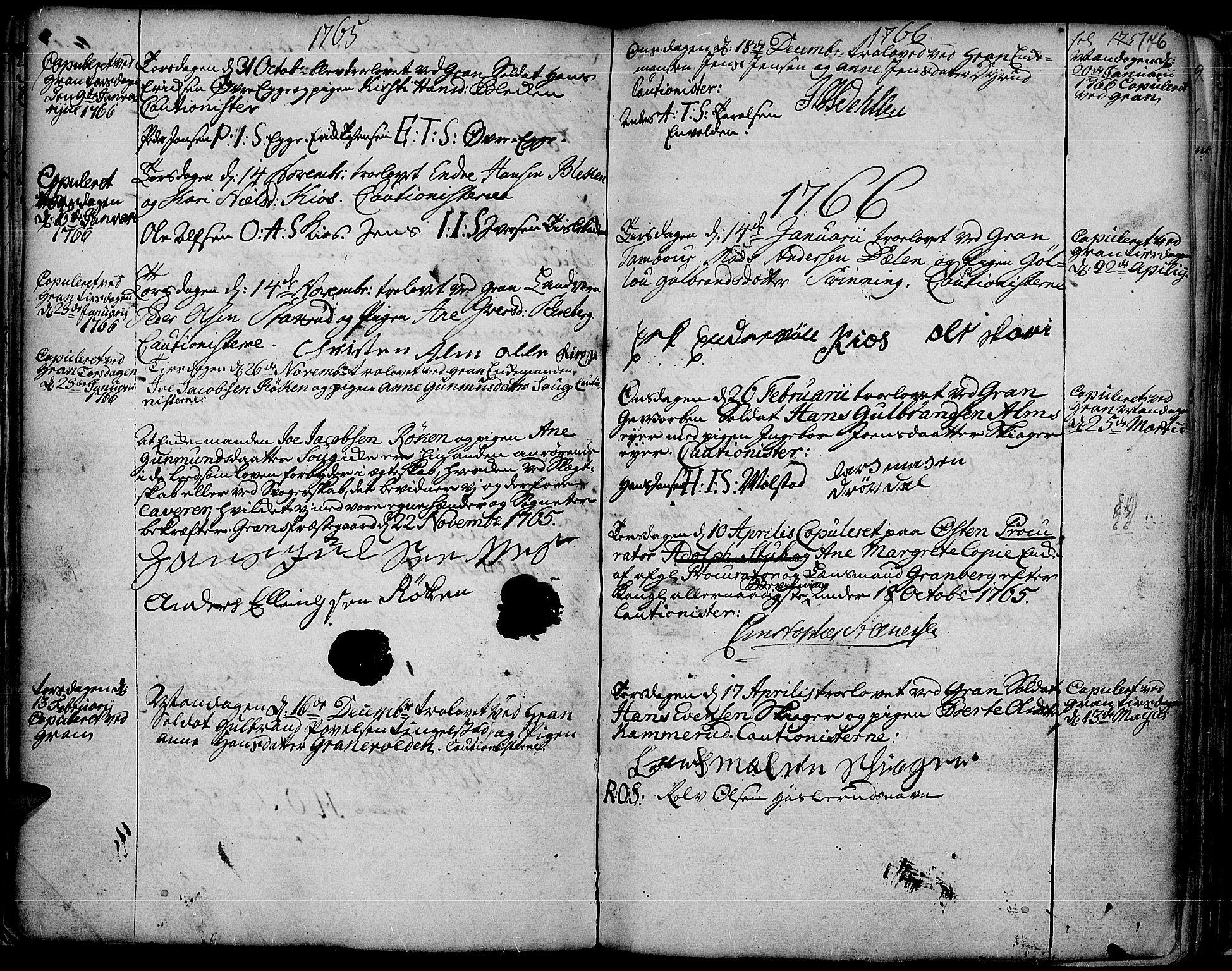 SAH, Gran prestekontor, Ministerialbok nr. 4, 1759-1775, s. 176