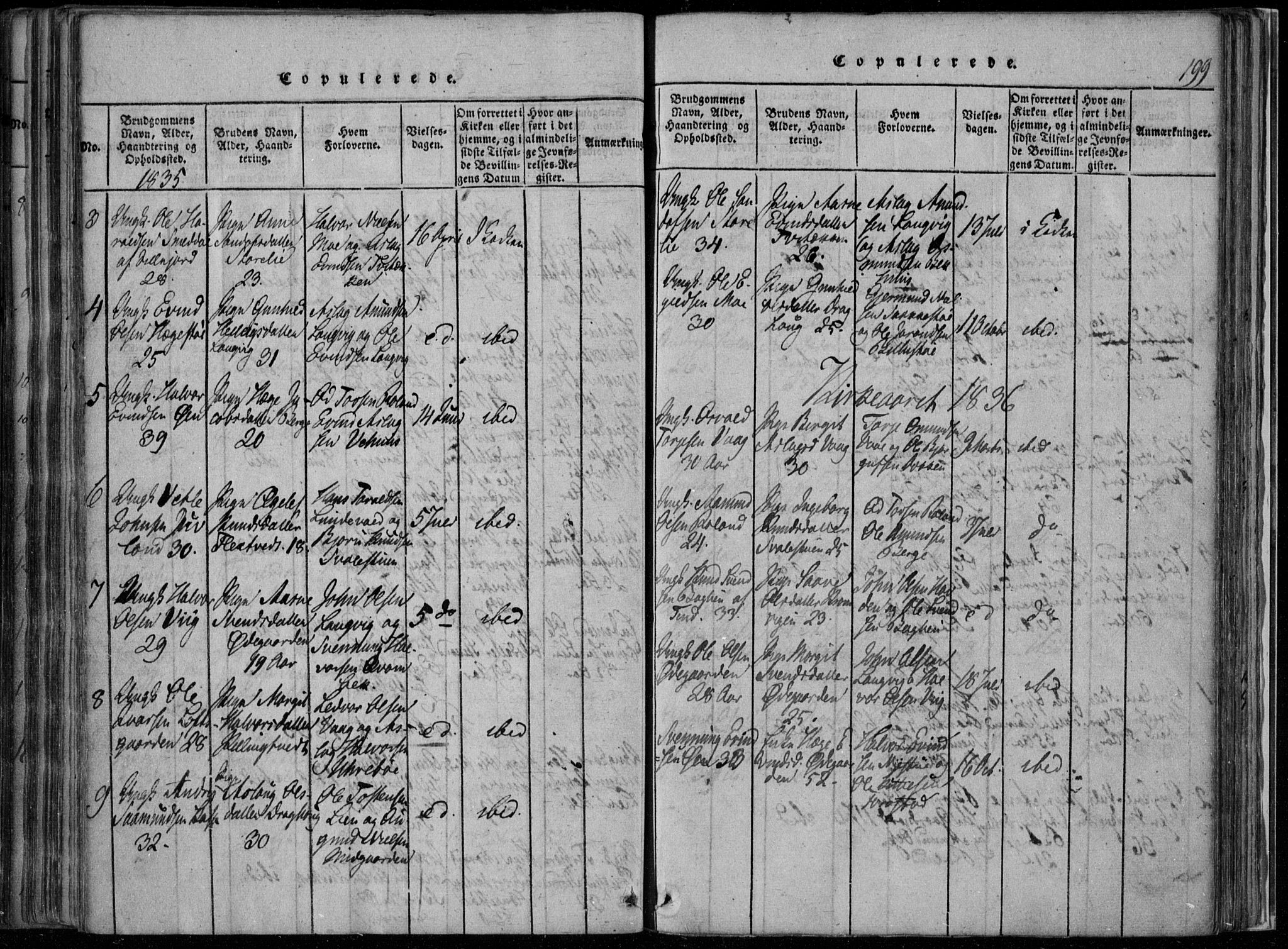 SAKO, Rauland kirkebøker, F/Fa/L0001: Ministerialbok nr. 1, 1814-1859, s. 199