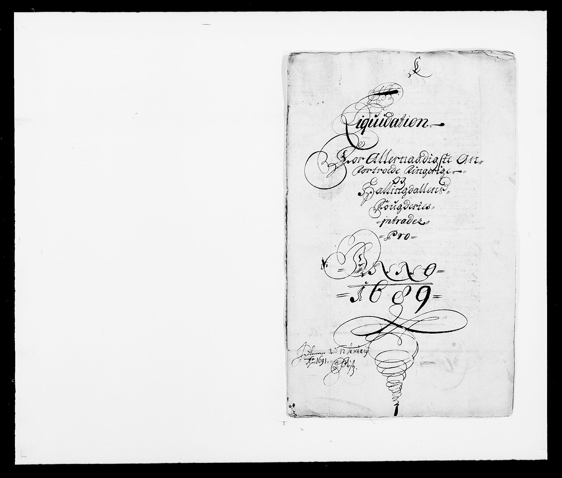 RA, Rentekammeret inntil 1814, Reviderte regnskaper, Fogderegnskap, R21/L1447: Fogderegnskap Ringerike og Hallingdal, 1687-1689, s. 256