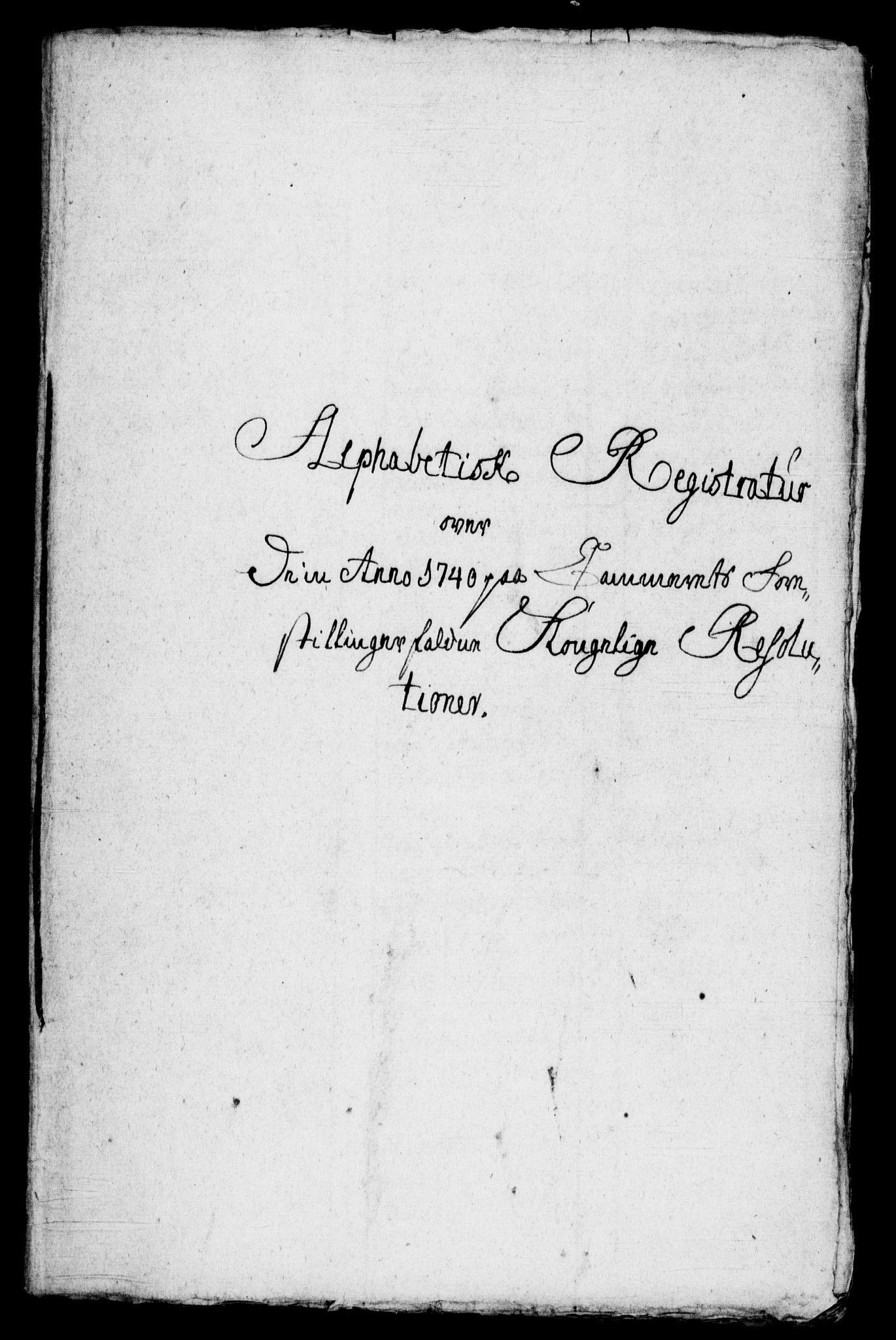 RA, Rentekammeret, Kammerkanselliet, G/Gf/Gfb/L0001: Register til norske relasjons- og resolusjonsprotokoller (merket RK 52.96), 1720-1749, s. 424