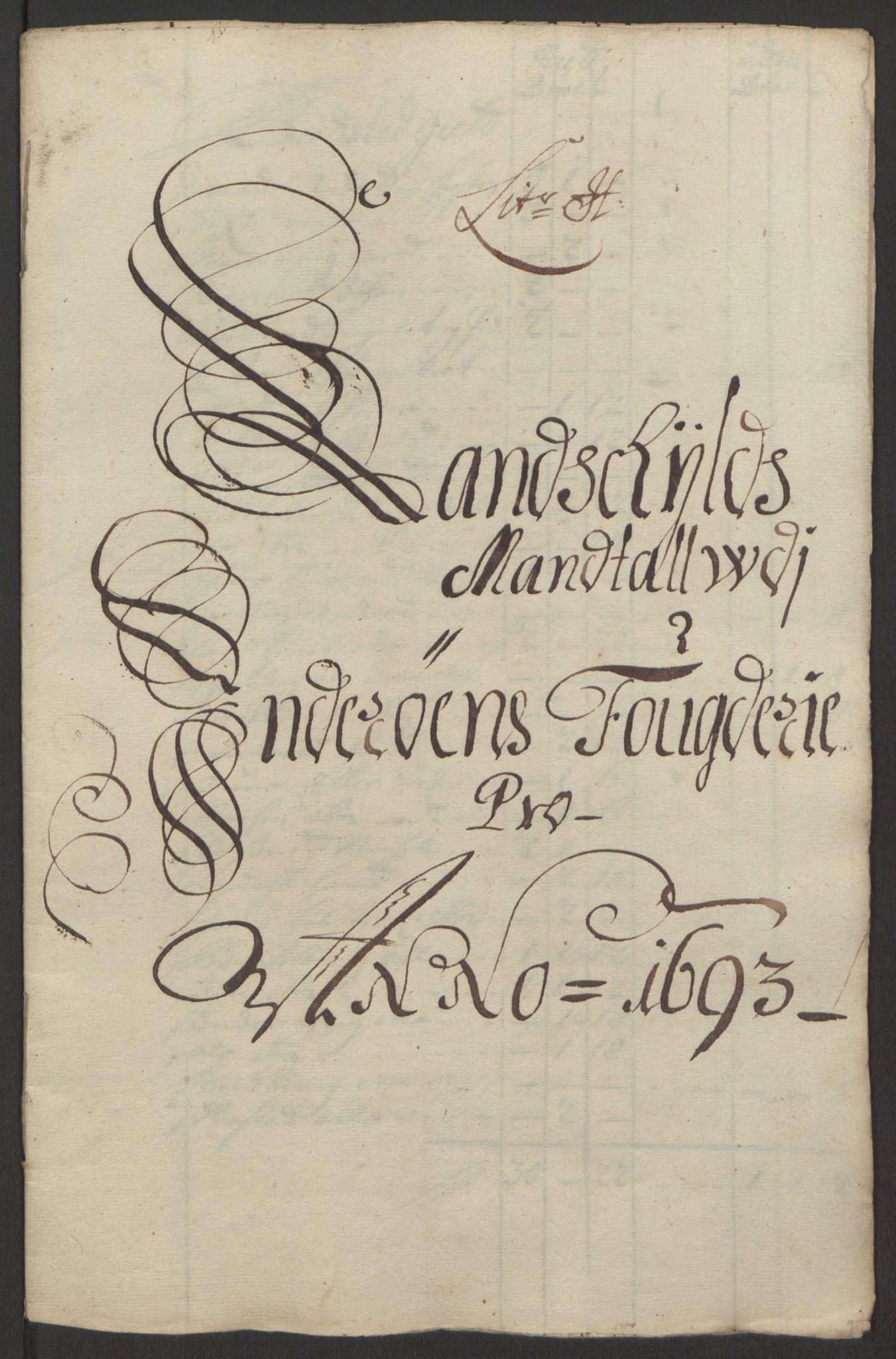 RA, Rentekammeret inntil 1814, Reviderte regnskaper, Fogderegnskap, R63/L4308: Fogderegnskap Inderøy, 1692-1694, s. 469