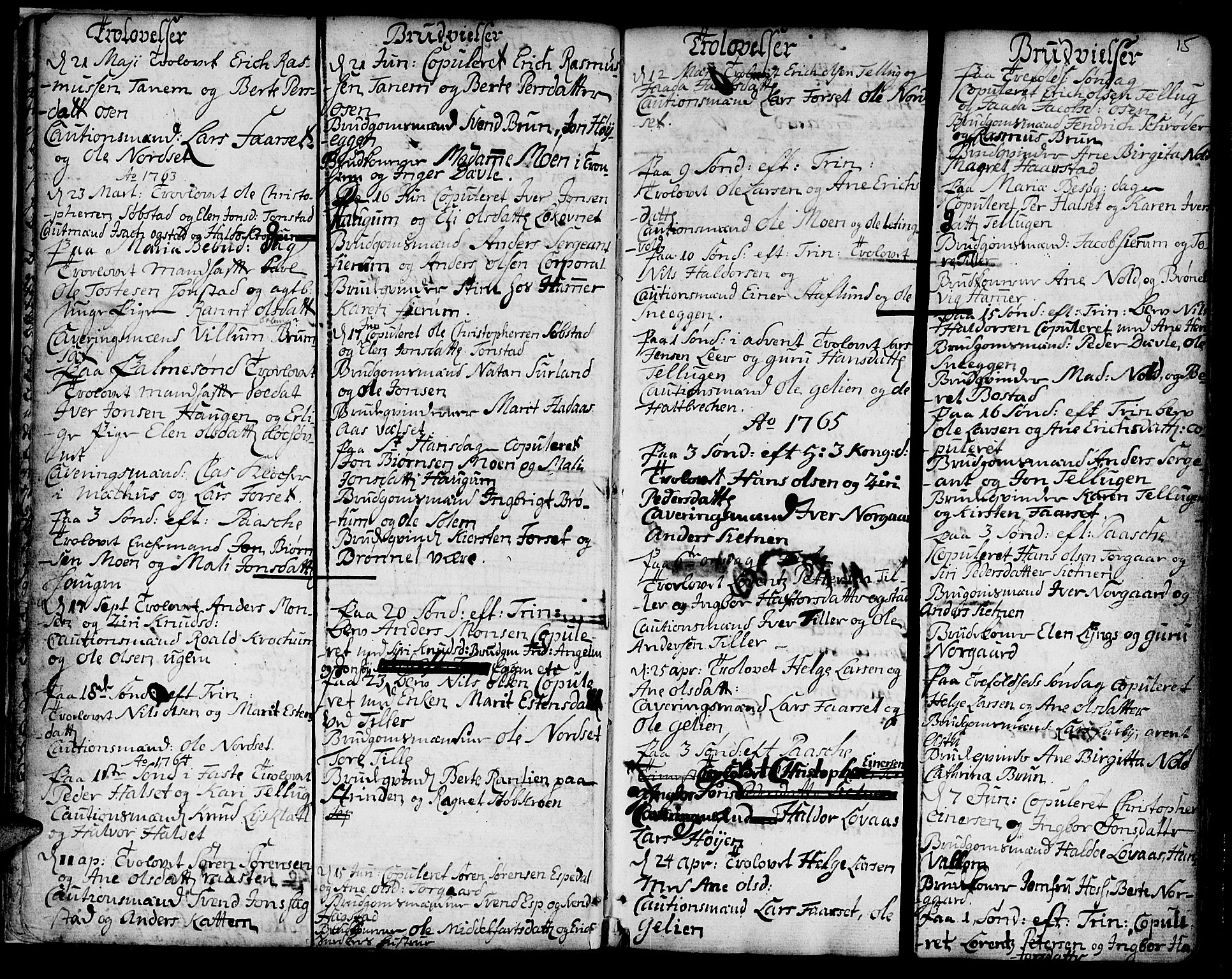 SAT, Ministerialprotokoller, klokkerbøker og fødselsregistre - Sør-Trøndelag, 618/L0437: Ministerialbok nr. 618A02, 1749-1782, s. 15