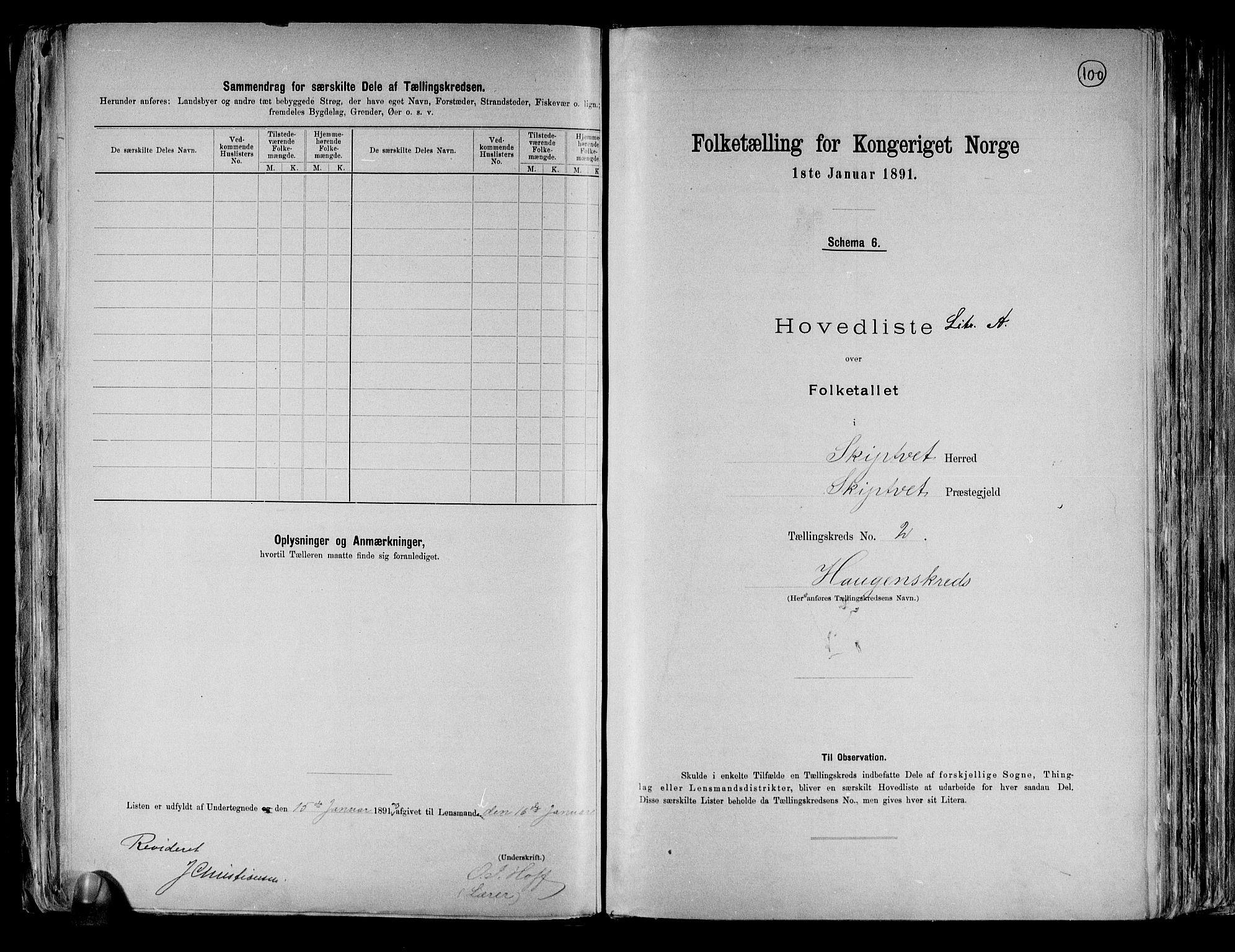 RA, Folketelling 1891 for 0127 Skiptvet herred, 1891, s. 6