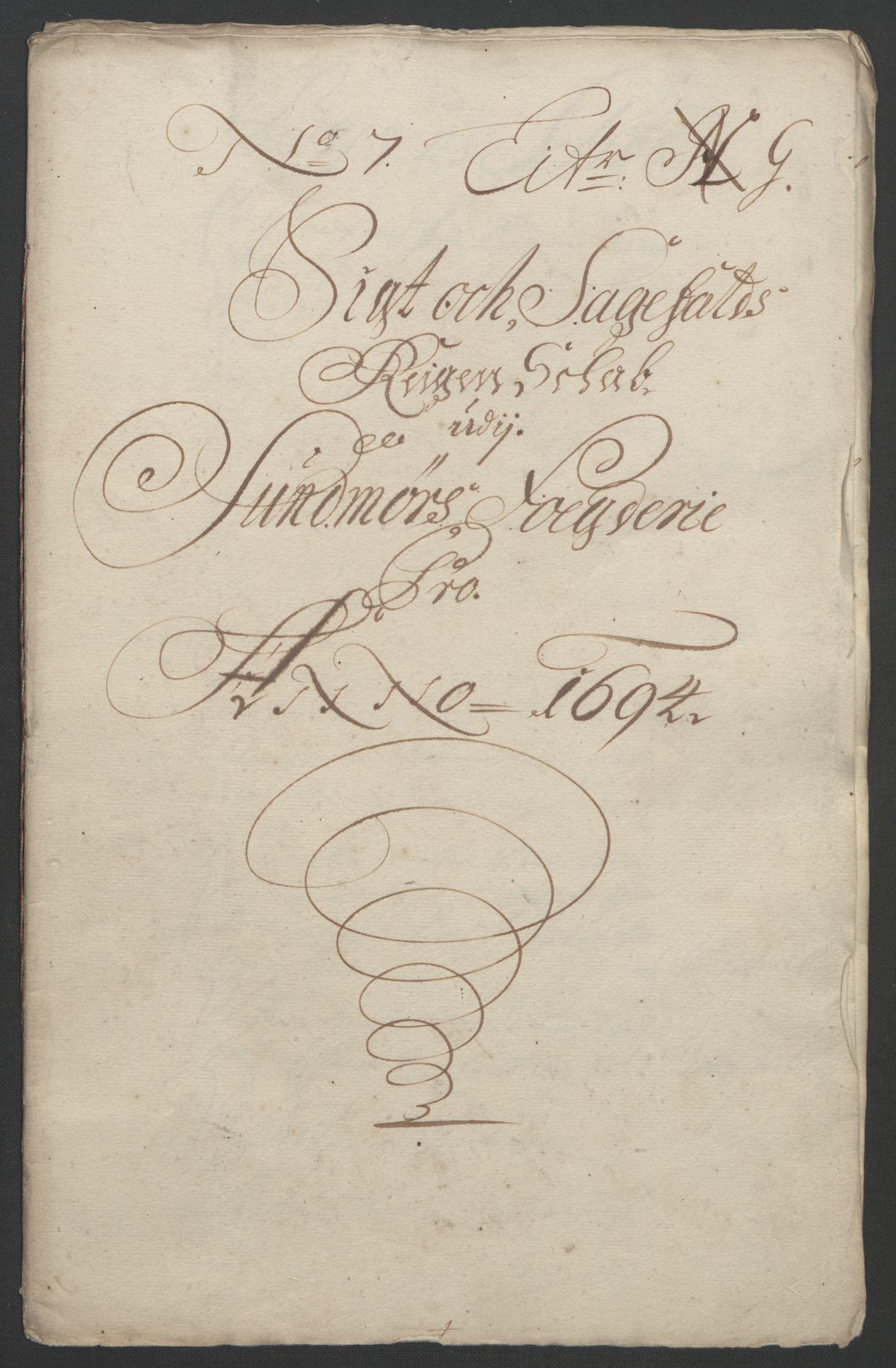 RA, Rentekammeret inntil 1814, Reviderte regnskaper, Fogderegnskap, R54/L3555: Fogderegnskap Sunnmøre, 1694-1695, s. 156