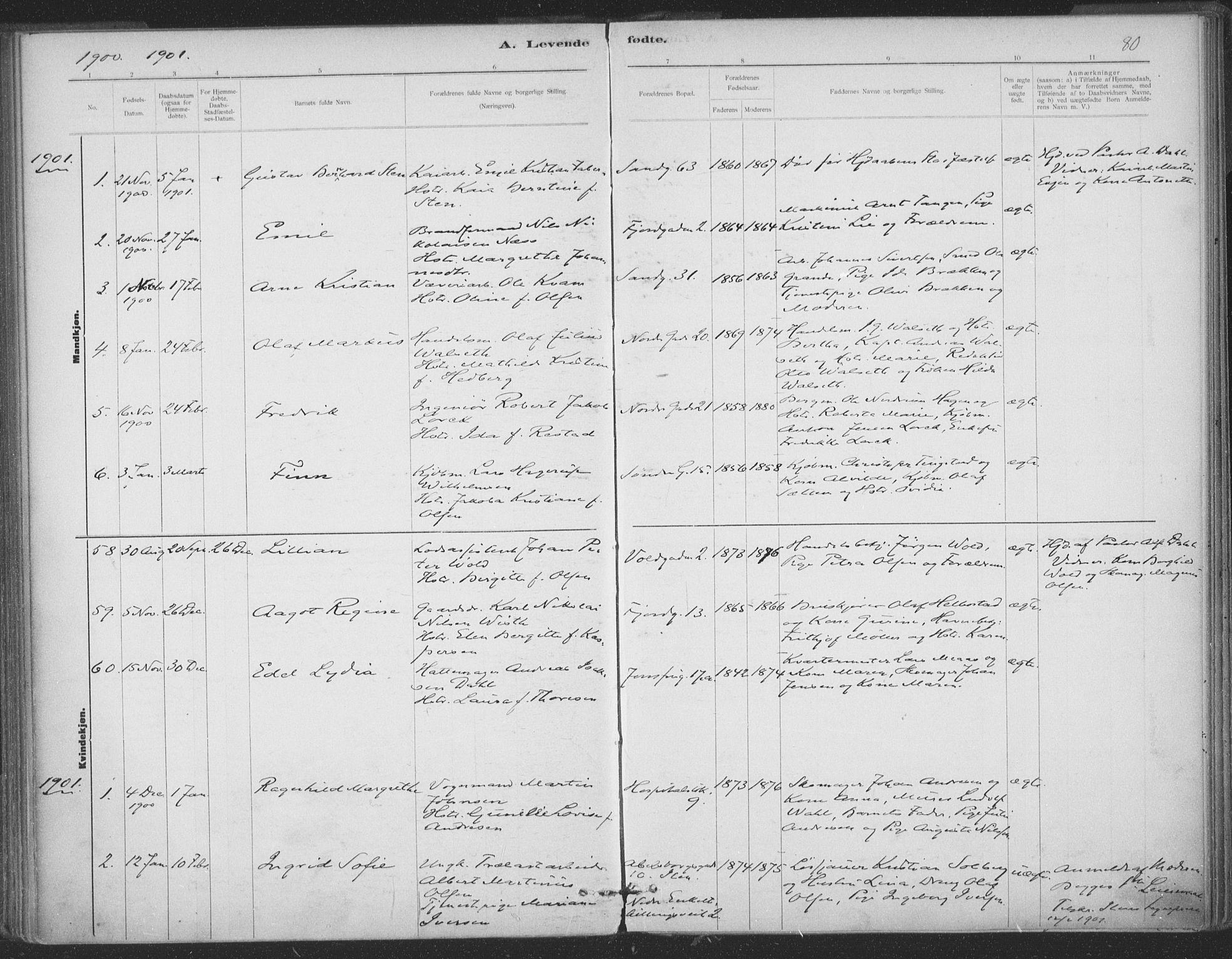 SAT, Ministerialprotokoller, klokkerbøker og fødselsregistre - Sør-Trøndelag, 602/L0122: Ministerialbok nr. 602A20, 1892-1908, s. 80
