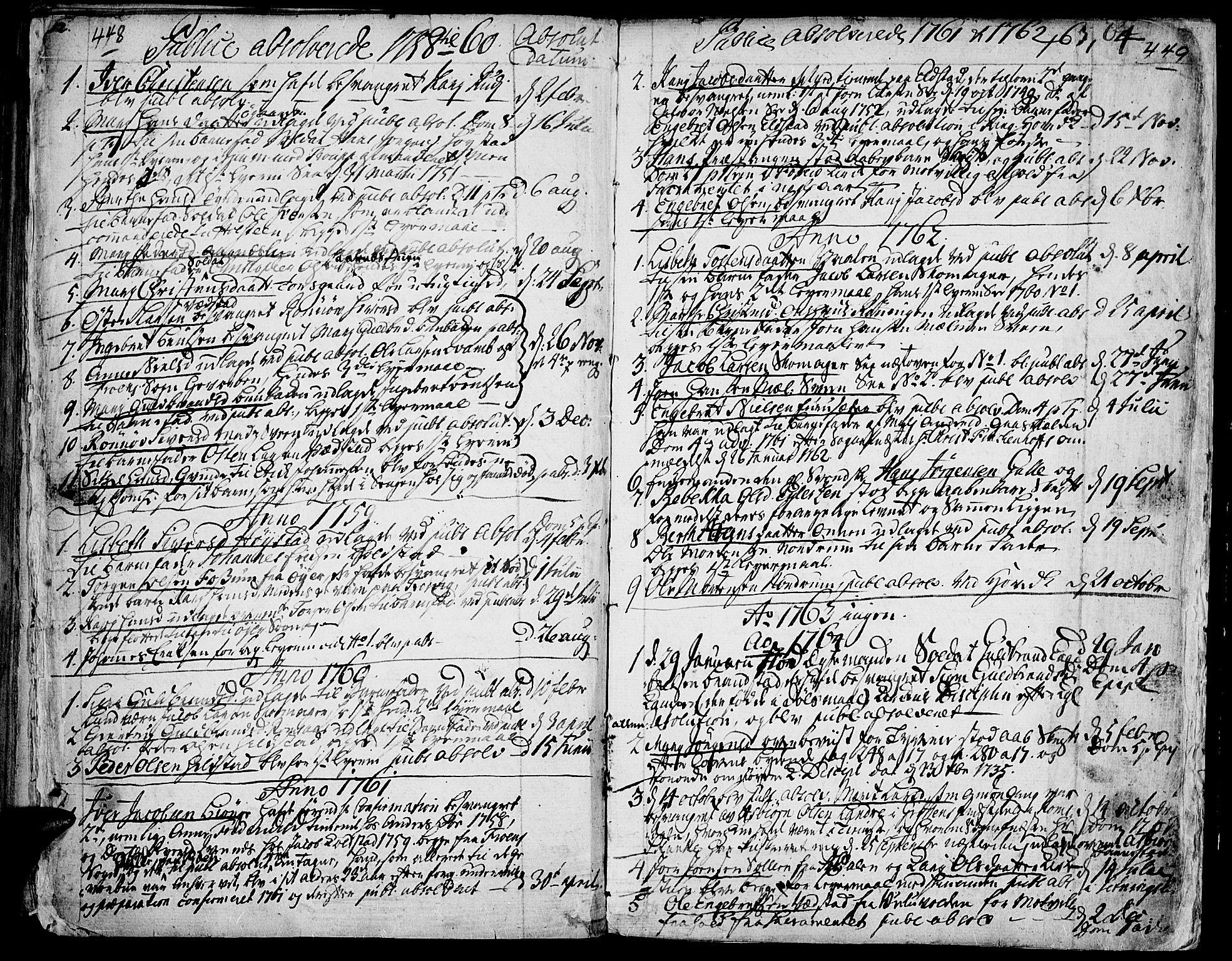SAH, Ringebu prestekontor, Ministerialbok nr. 2, 1734-1780, s. 448-449