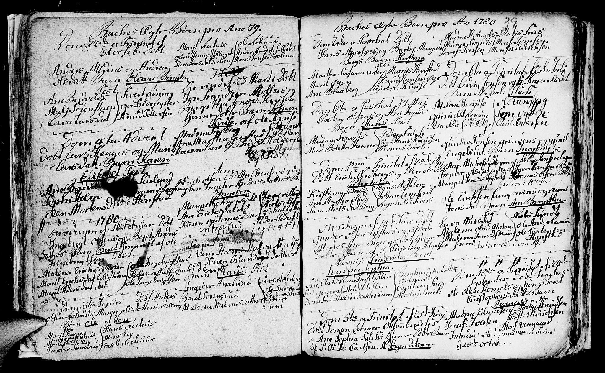 SAT, Ministerialprotokoller, klokkerbøker og fødselsregistre - Sør-Trøndelag, 604/L0218: Klokkerbok nr. 604C01, 1754-1819, s. 39
