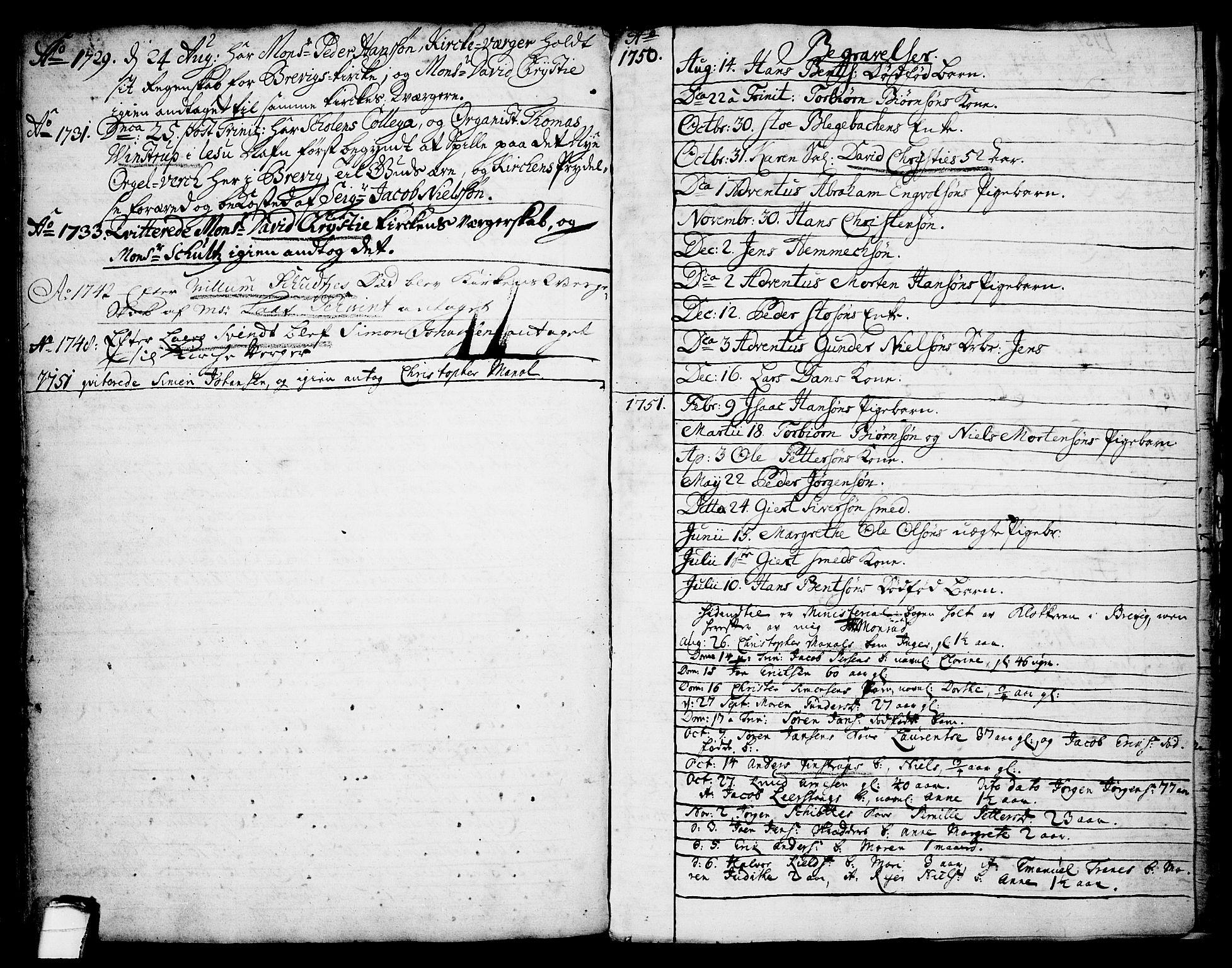 SAKO, Brevik kirkebøker, F/Fa/L0002: Ministerialbok nr. 2, 1720-1764, s. 58c