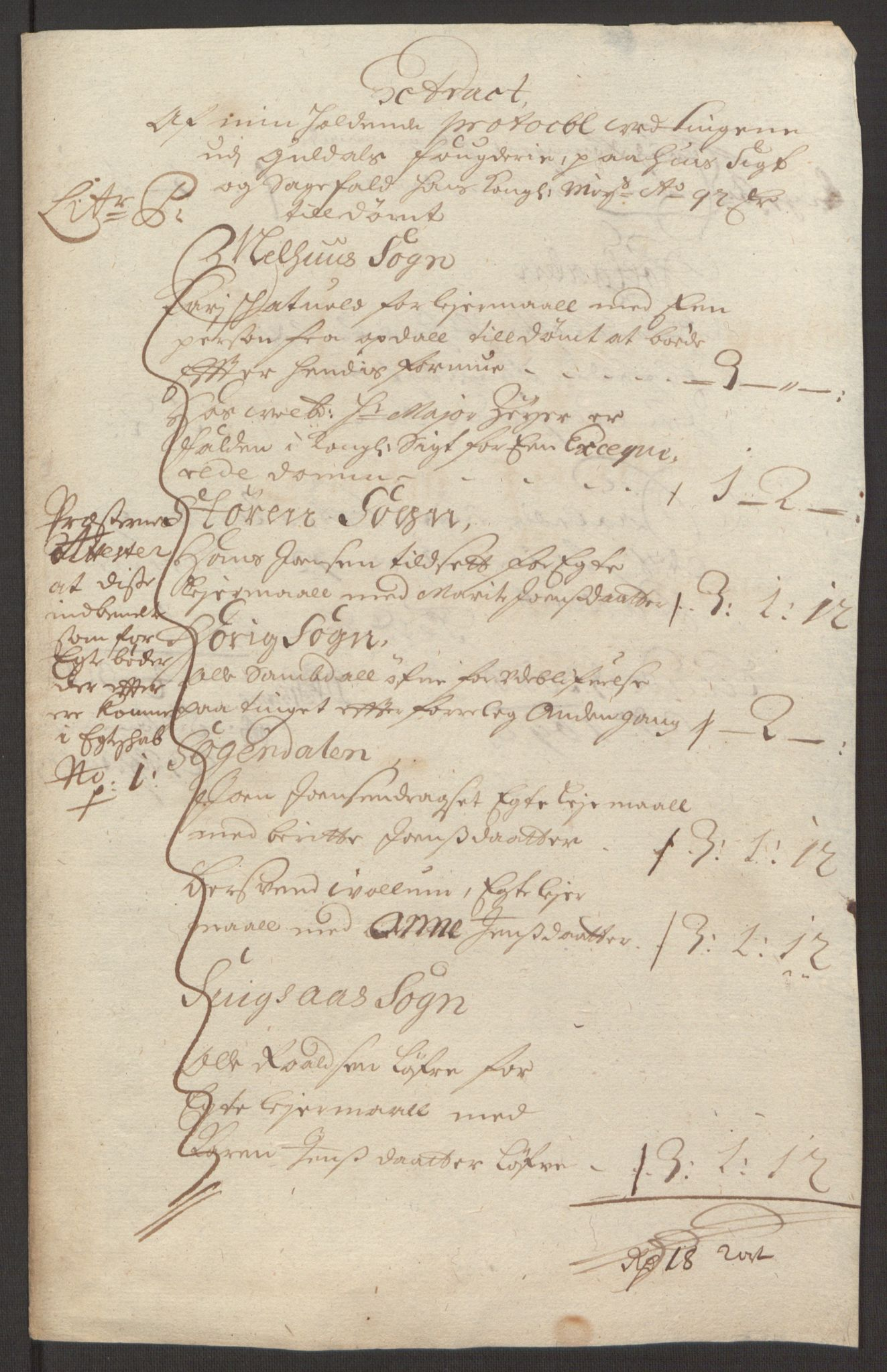 RA, Rentekammeret inntil 1814, Reviderte regnskaper, Fogderegnskap, R59/L3942: Fogderegnskap Gauldal, 1692, s. 186