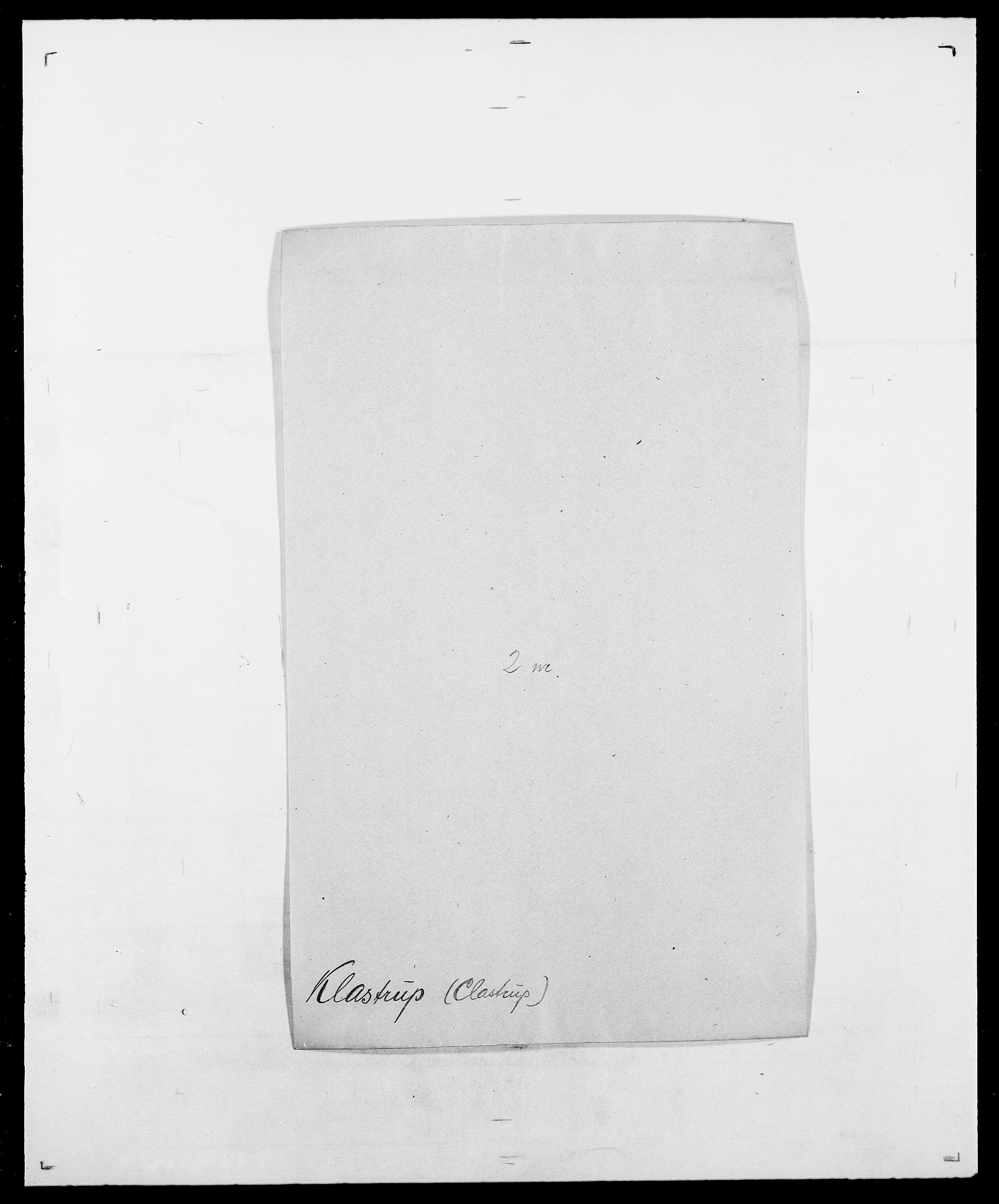 SAO, Delgobe, Charles Antoine - samling, D/Da/L0021: Klagenberg - Kristoft, s. 8