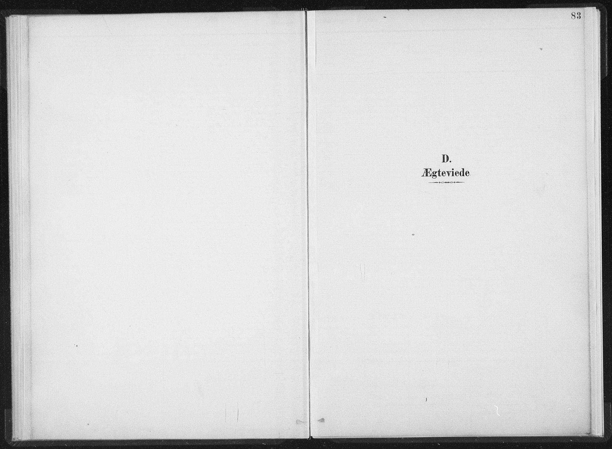 SAT, Ministerialprotokoller, klokkerbøker og fødselsregistre - Nord-Trøndelag, 724/L0263: Ministerialbok nr. 724A01, 1891-1907, s. 83
