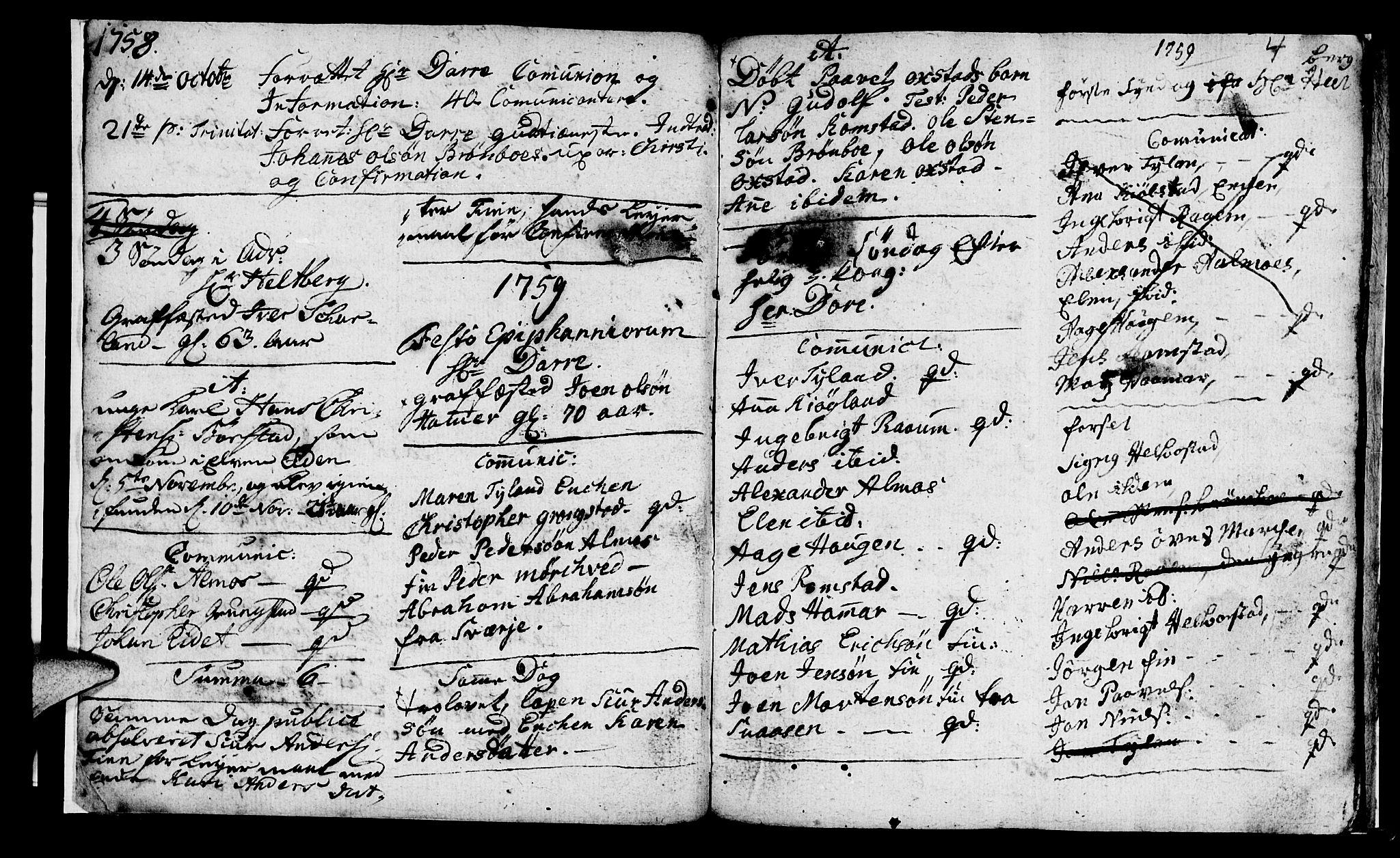SAT, Ministerialprotokoller, klokkerbøker og fødselsregistre - Nord-Trøndelag, 765/L0561: Ministerialbok nr. 765A02, 1758-1765, s. 4