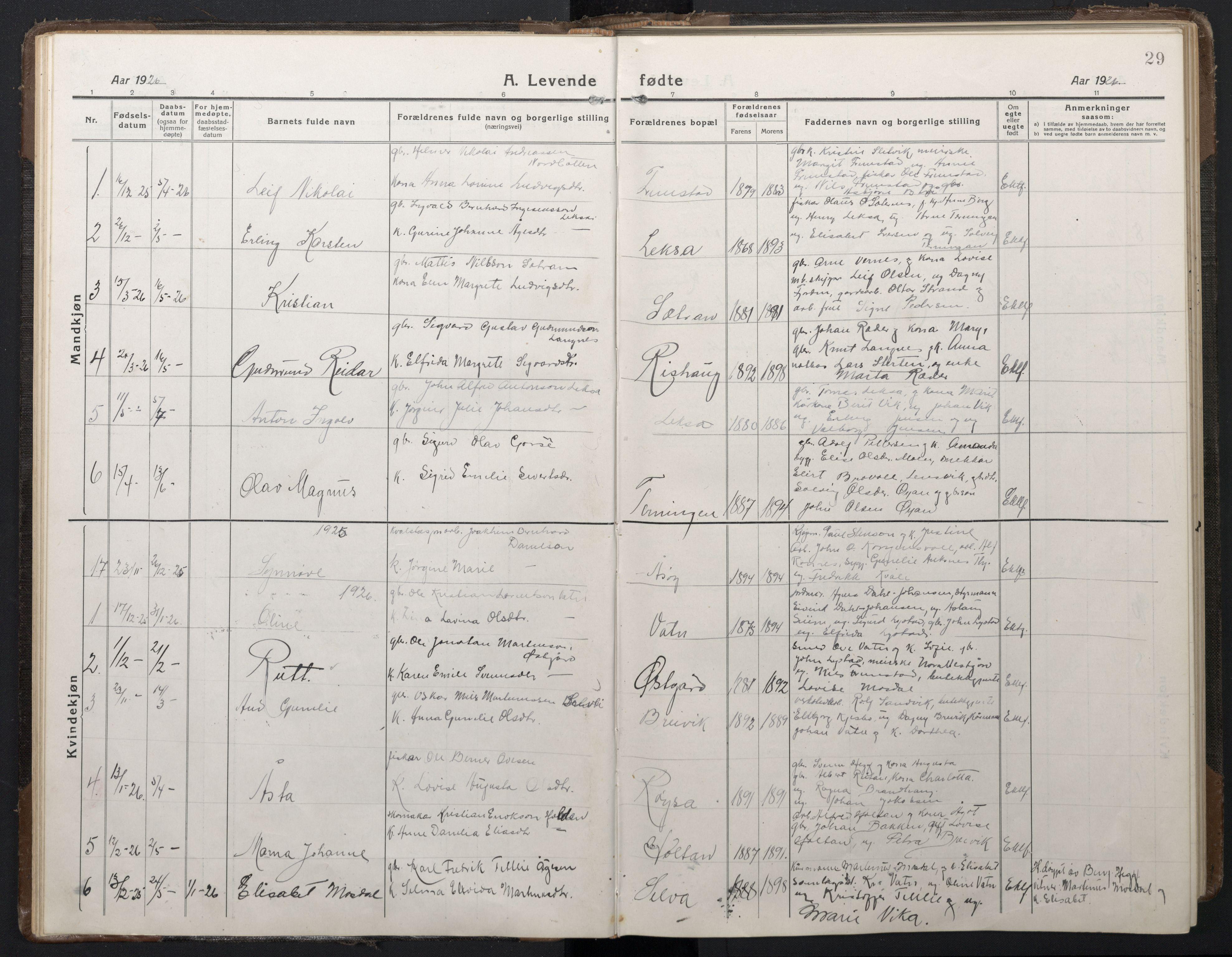 SAT, Ministerialprotokoller, klokkerbøker og fødselsregistre - Sør-Trøndelag, 662/L0758: Klokkerbok nr. 662C03, 1918-1948, s. 29