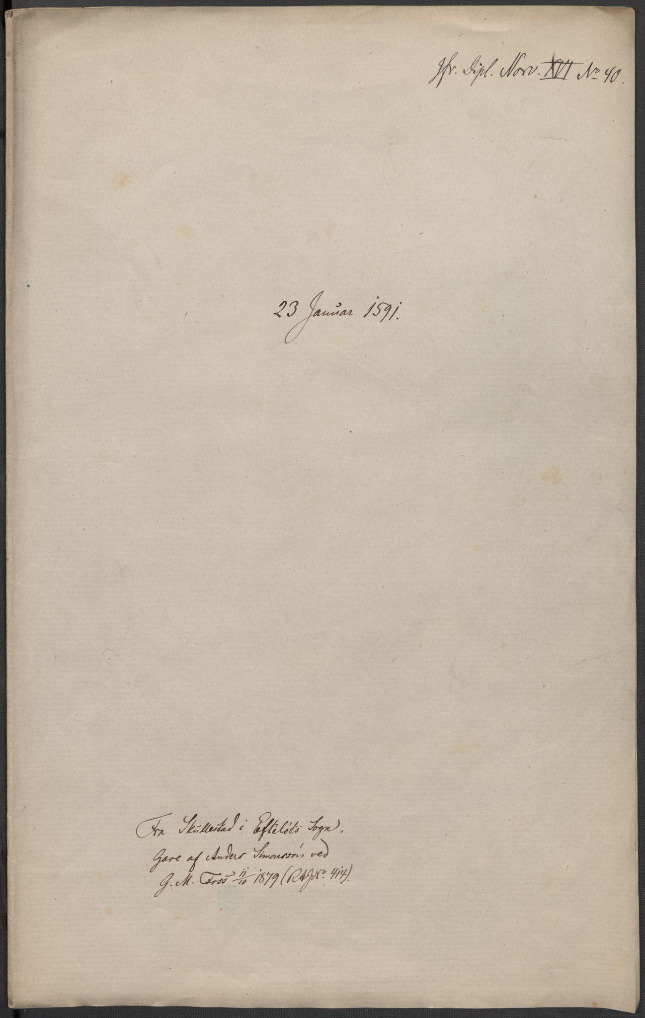 RA, Riksarkivets diplomsamling, F02/L0093: Dokumenter, 1591, s. 12