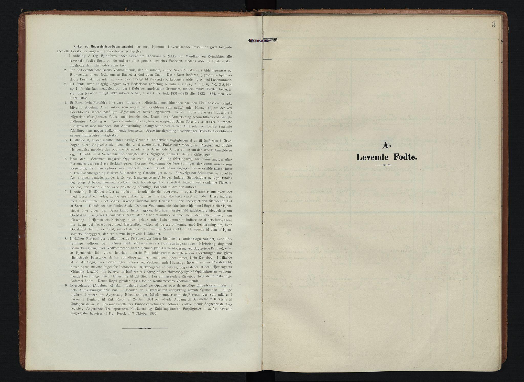 SAO, Spydeberg prestekontor Kirkebøker, F/Fb/L0002: Ministerialbok nr. II 2, 1908-1926, s. 3