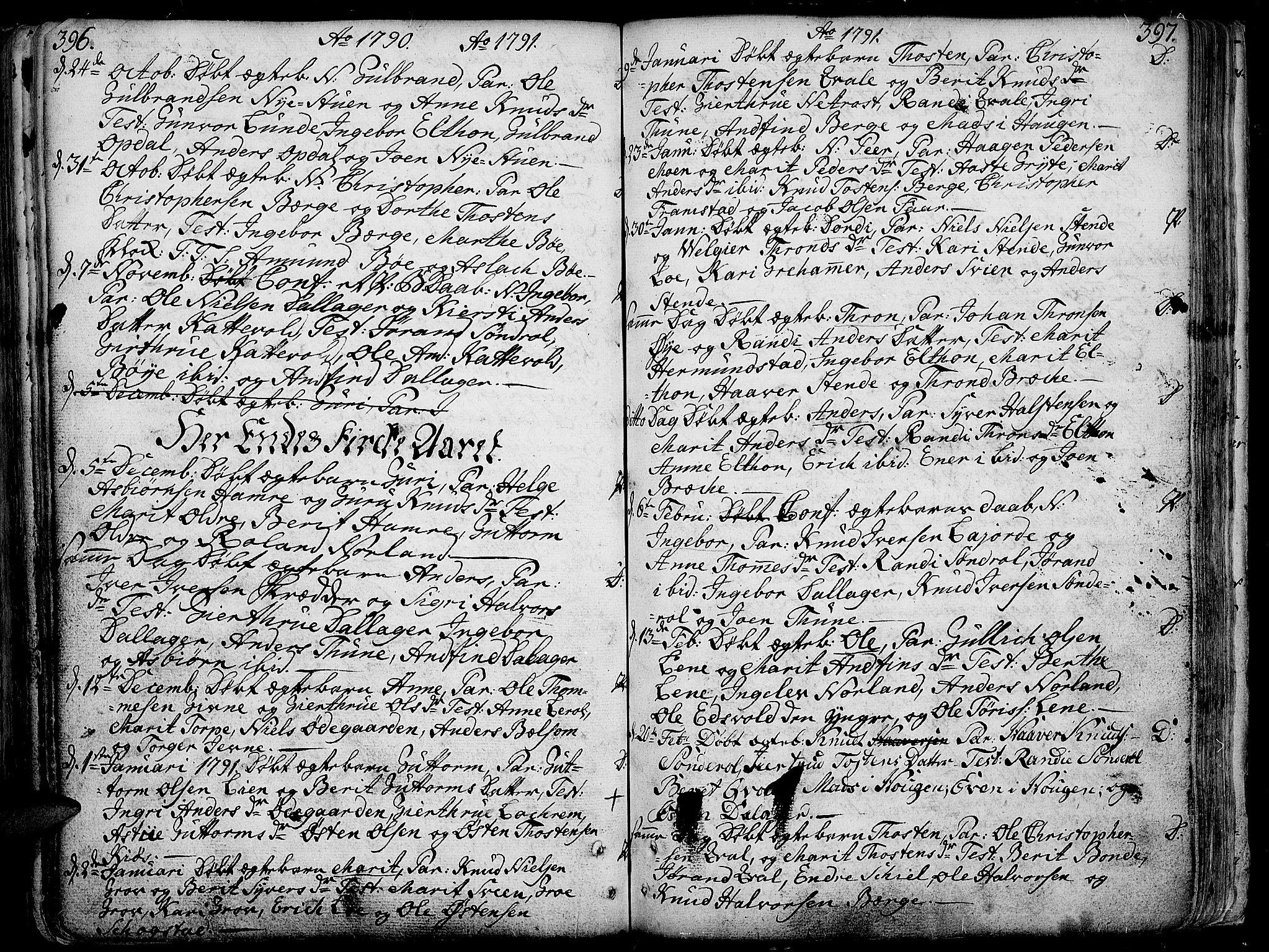 SAH, Vang prestekontor, Valdres, Ministerialbok nr. 1, 1730-1796, s. 396-397