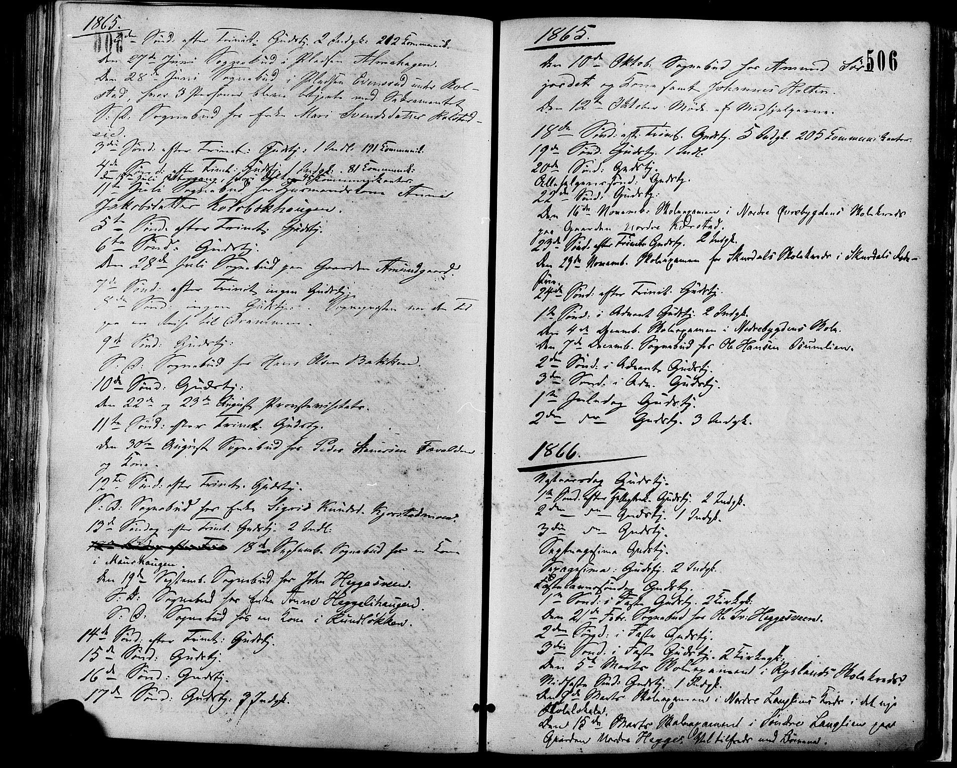 SAH, Sør-Fron prestekontor, H/Ha/Haa/L0002: Ministerialbok nr. 2, 1864-1880, s. 506