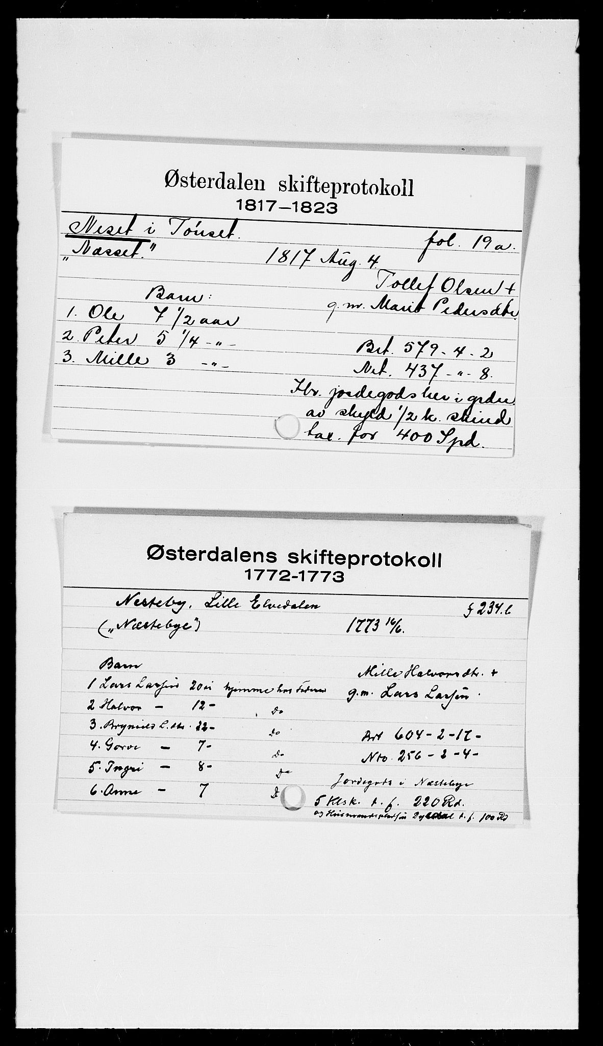 SAH, Østerdalen sorenskriveri, J, 1772-1823, s. 6804