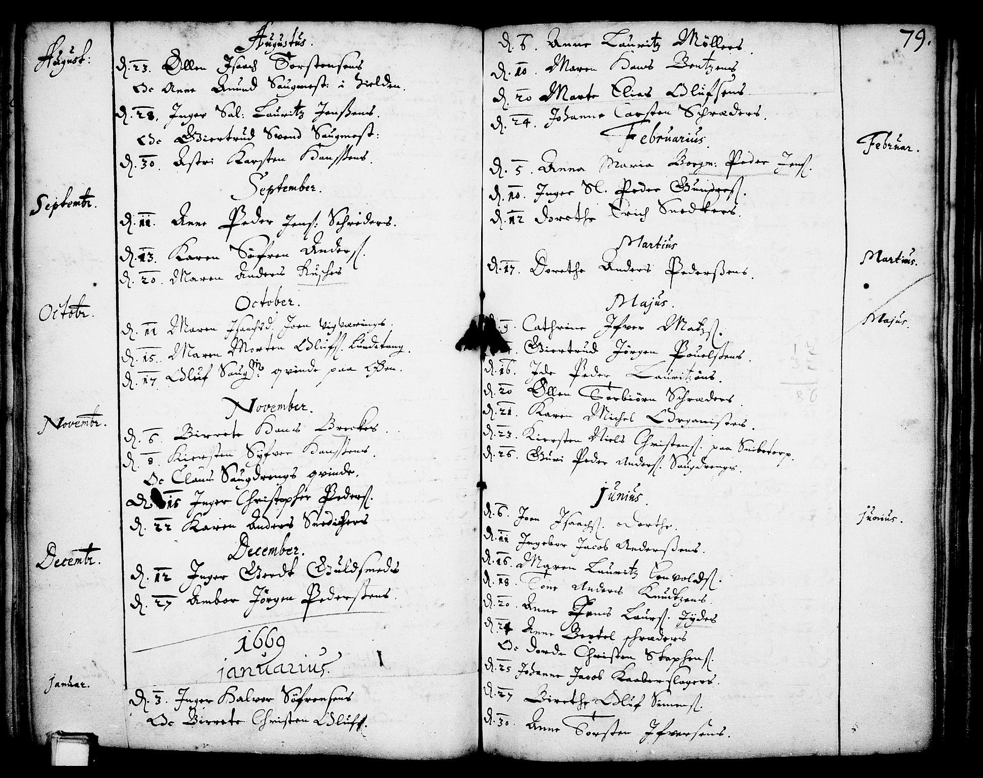 SAKO, Skien kirkebøker, F/Fa/L0001: Ministerialbok nr. 1, 1659-1679, s. 79