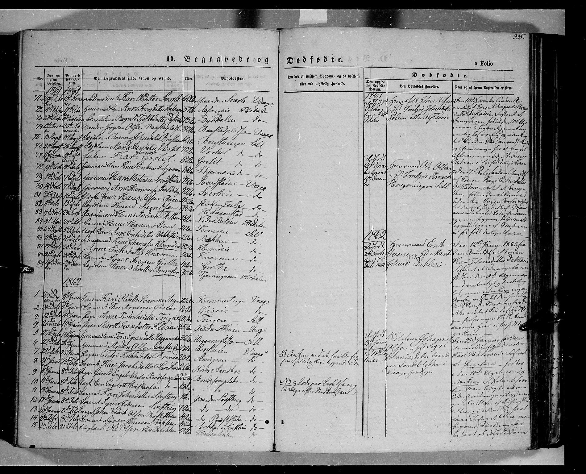 SAH, Vågå prestekontor, Ministerialbok nr. 6 /1, 1856-1872, s. 335