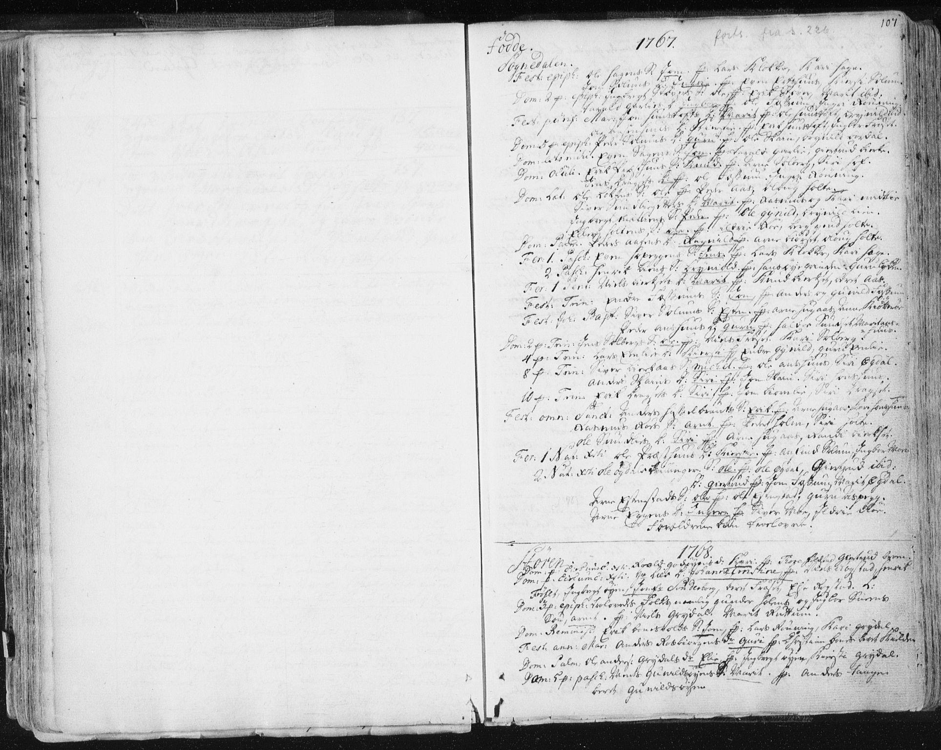 SAT, Ministerialprotokoller, klokkerbøker og fødselsregistre - Sør-Trøndelag, 687/L0991: Ministerialbok nr. 687A02, 1747-1790, s. 107