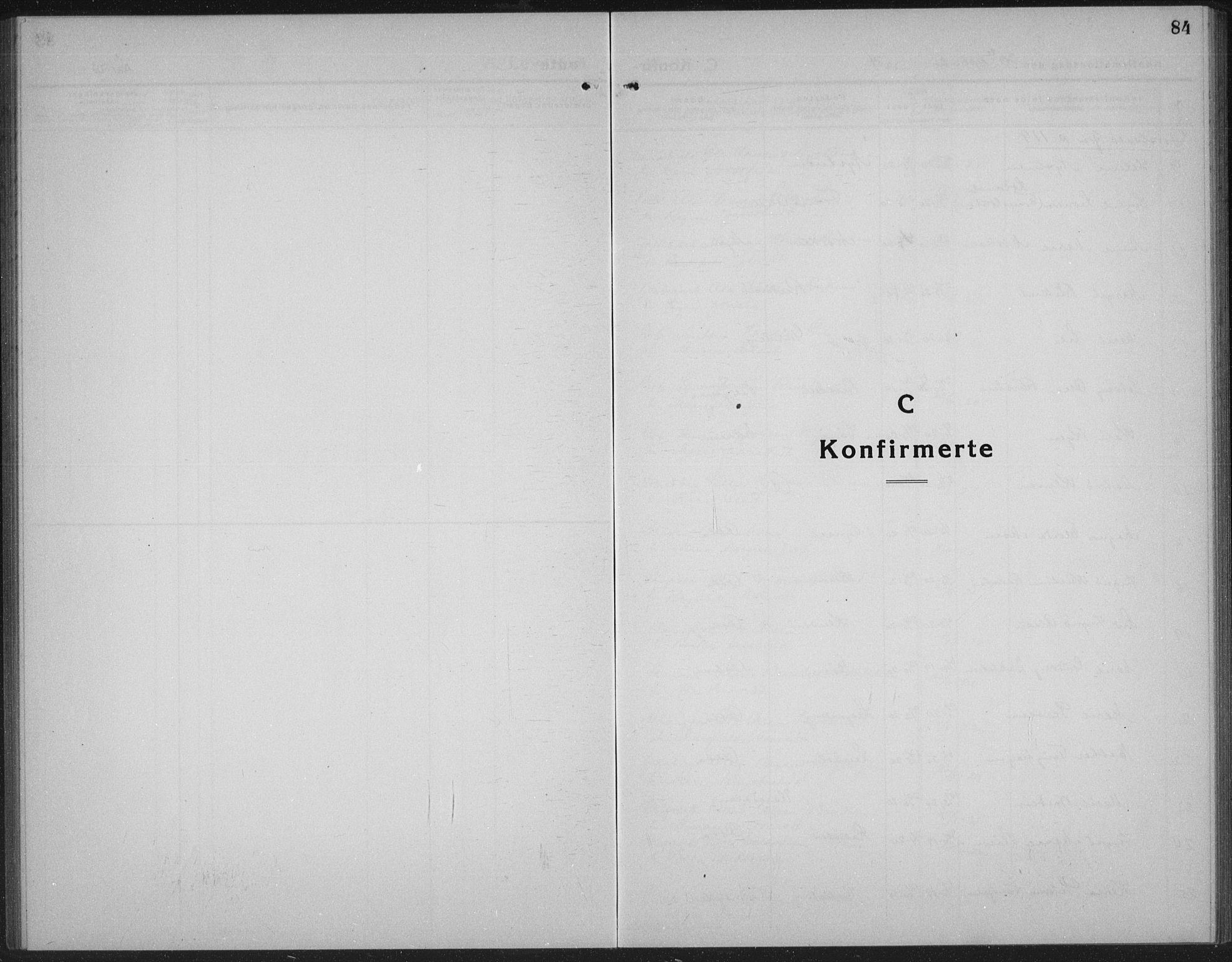 SAH, Sel prestekontor, Klokkerbok nr. 2, 1923-1939, s. 84